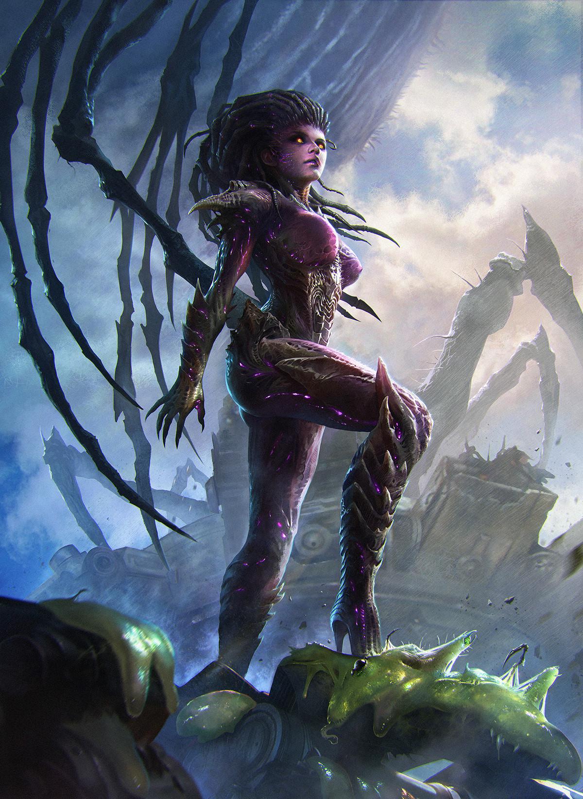 Kerrigan Queen Of Blades by ProlificPen | Starcraft, Art