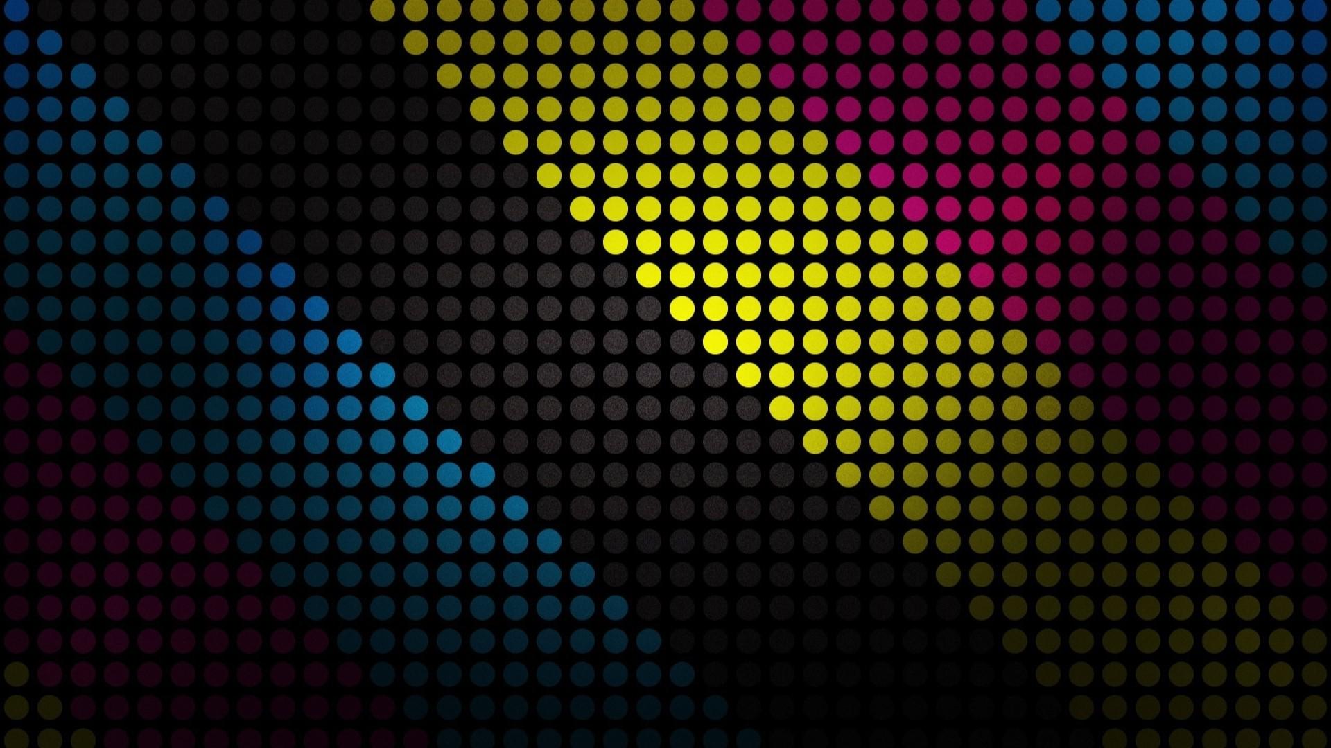 Digital Art Artwork Text Pattern Circle Polka Dots CMYK Color Shape Design Line Number Screenshot 1920x1080