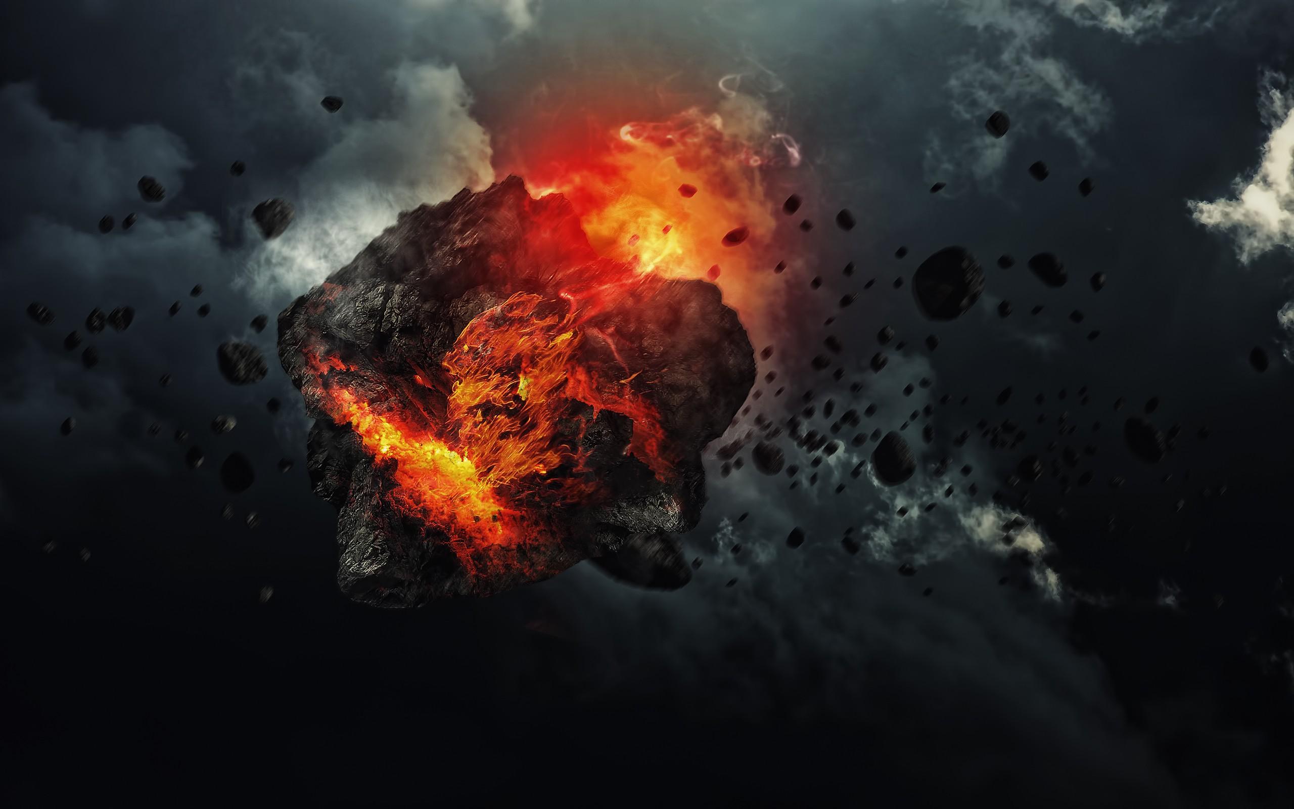 Fondos De Pantalla De Lava: Fondos De Pantalla : Arte Digital, Atmósfera, Explosión