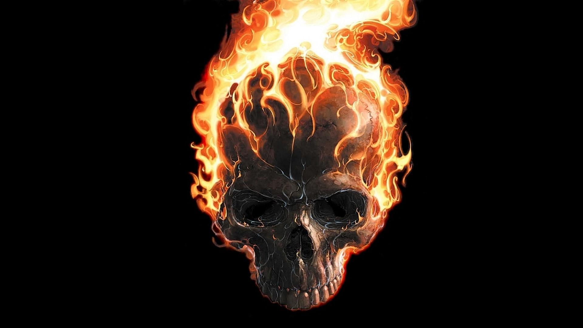 Wallpaper Digital Art Black Background Minimalism Movie Poster Fire Marvel Comics Skull Teeth Ghost Rider Burning Flame Darkness