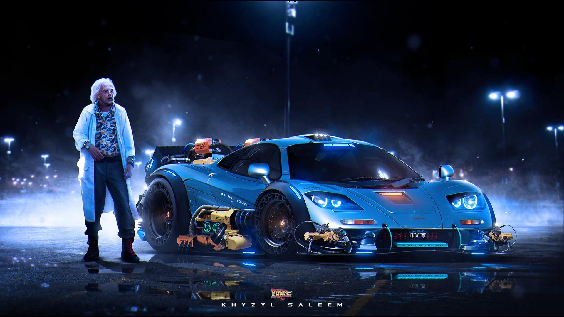 Wallpaper Digital Art Artwork Back To The Future Sports Car Dr