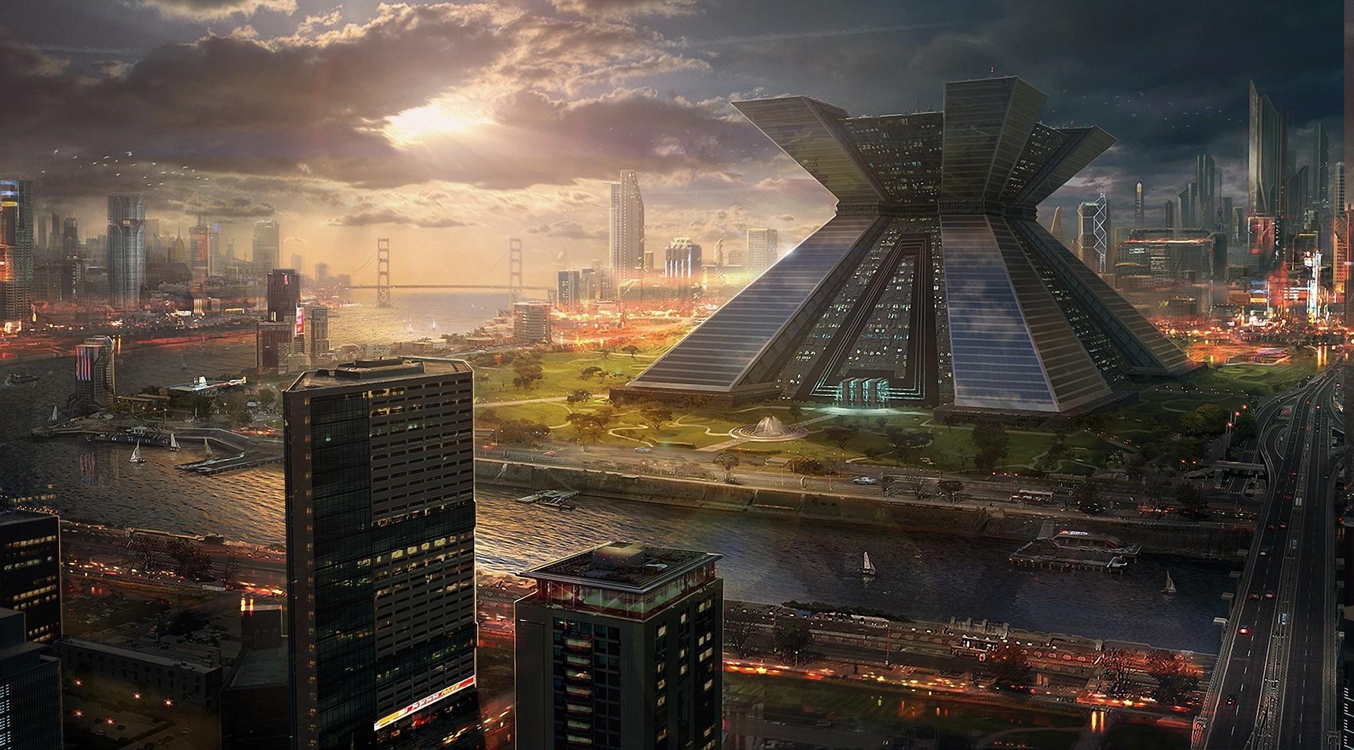 Fantasy Landscape Cities Cityscapes