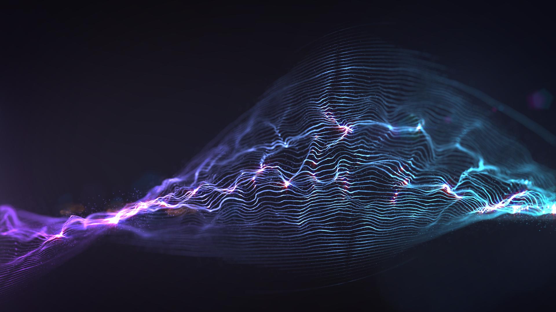 Wallpaper Digital Art Dark Night Abstract Artwork Lightning