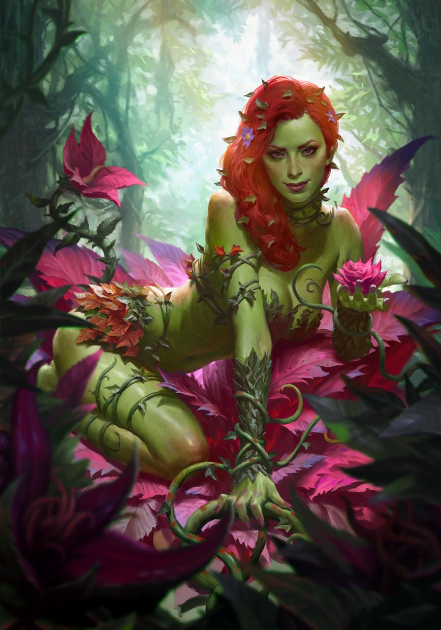 wallpaper digital art drawing poison ivy flowers redhead plants fantasy girl 896x1280 pere 1539017 hd wallpapers wallhere digital art drawing poison ivy
