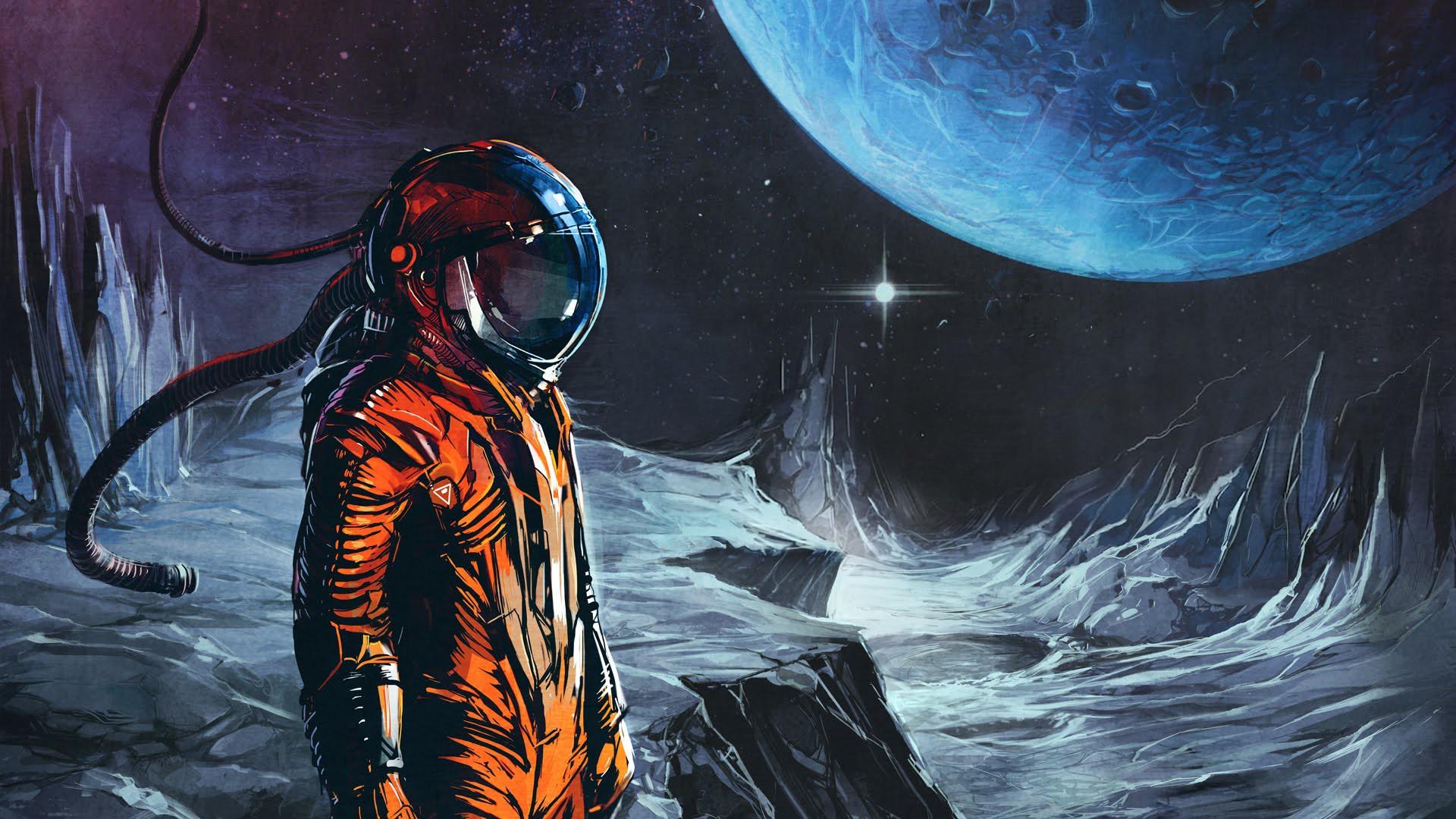 Обои скафандр, шлем, космонавт, astronaut. Игры foto 16