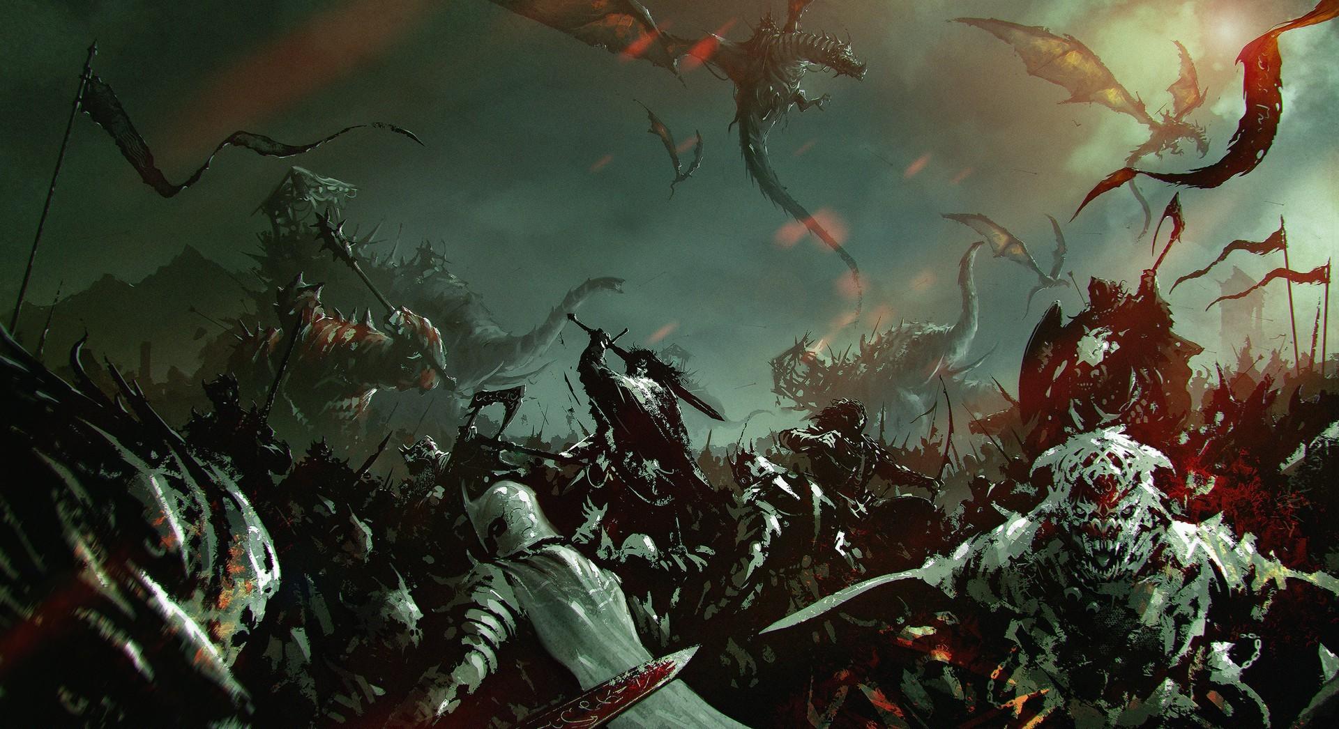 Wallpaper : digital art, fantasy art, war, dragon