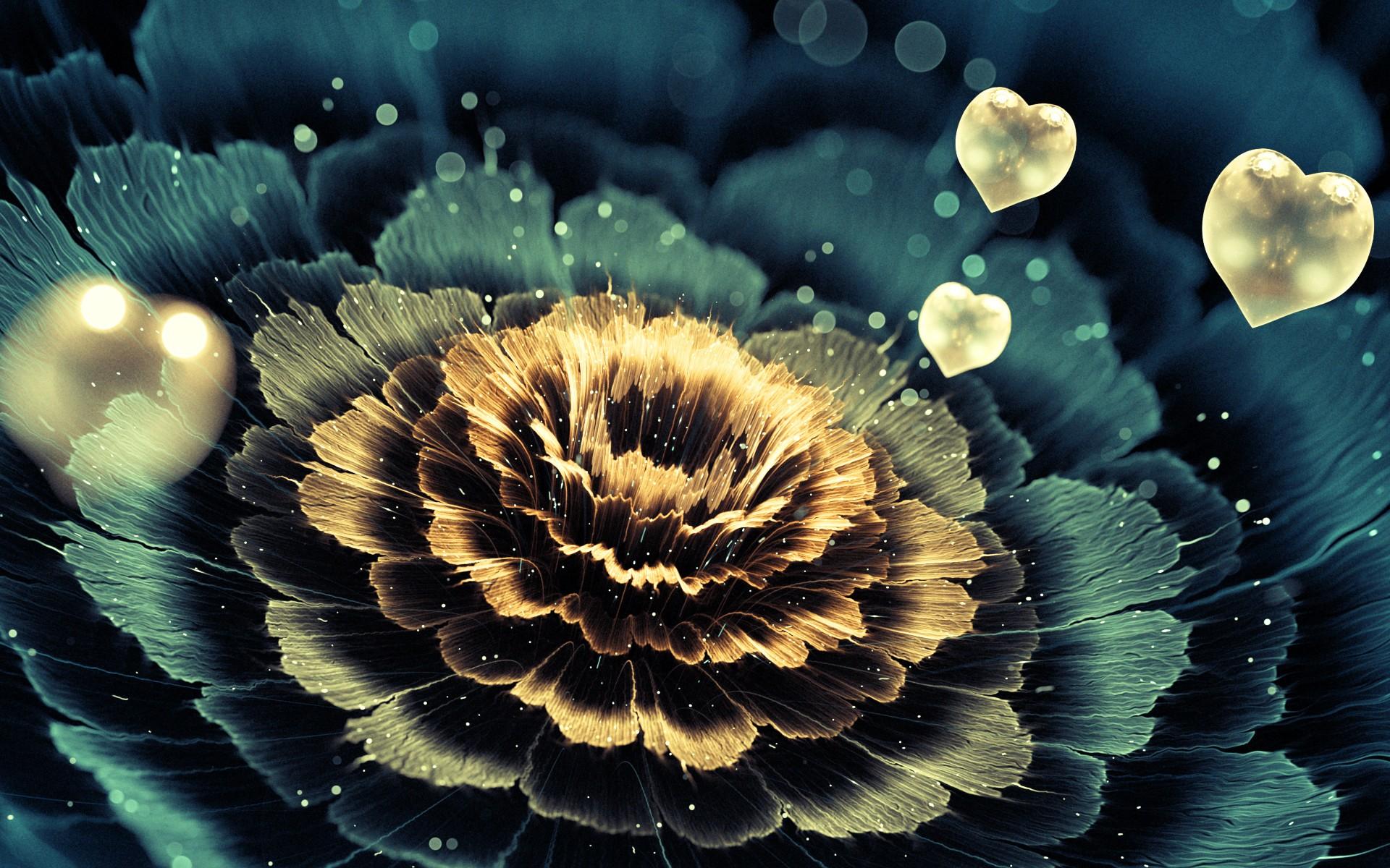 digital art flowers nature love heart photography fractal petals 3D fractal leaf flower plant flora petal computer wallpaper land plant flowering plant fractal art close up macro photography 47313