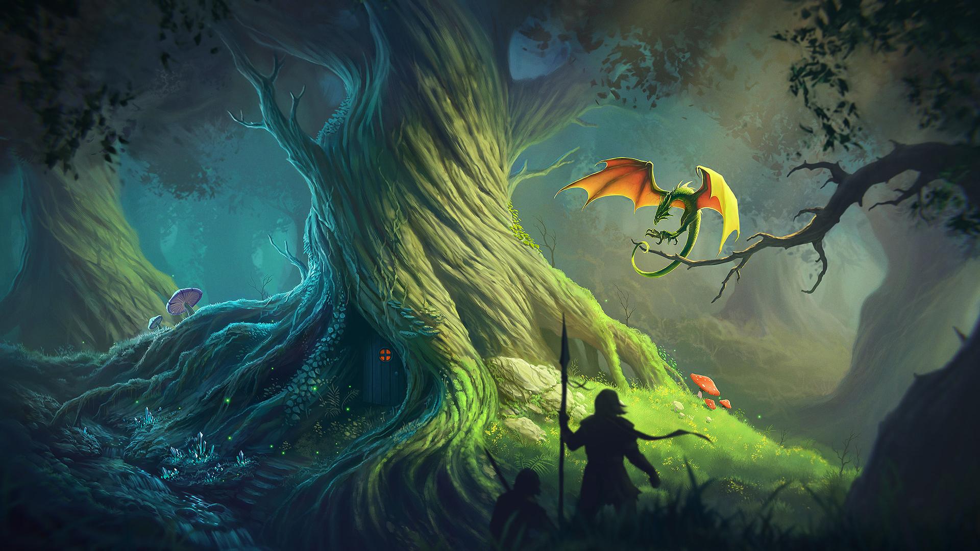картинки с драконами на природе одна
