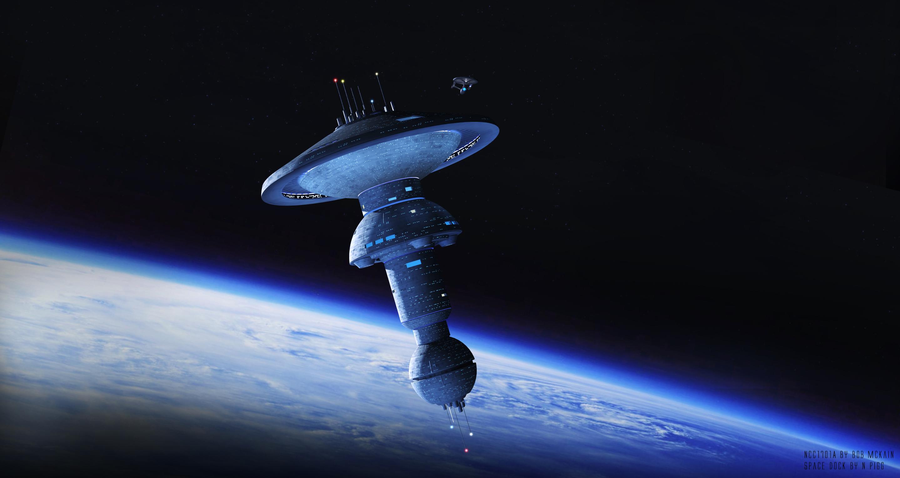 Wallpaper Digital Art Futuristic Space Star Trek Spacedock Starbase 2879x1530 Badr 1255199 Hd Wallpapers Wallhere