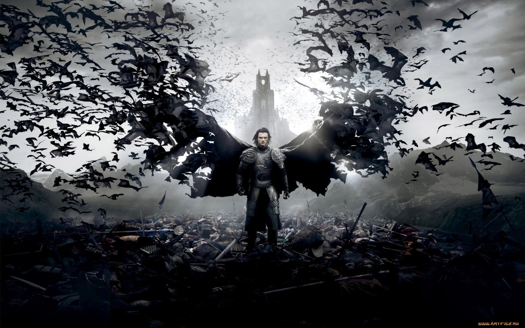 digital art horror movies vampires bats Dracula Untold Dracula vlad tepes Vlad the Impaler darkness screenshot