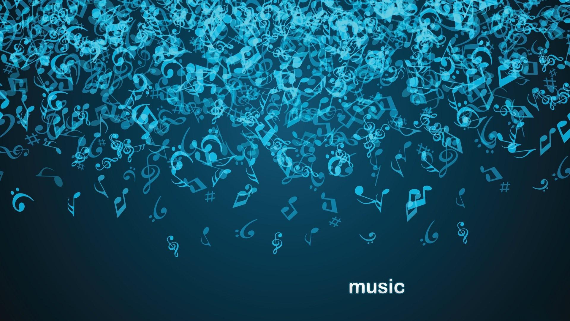 Masaüstü Dijital Sanat Minimalizm Mavi Arka Plan Müzik Mavi