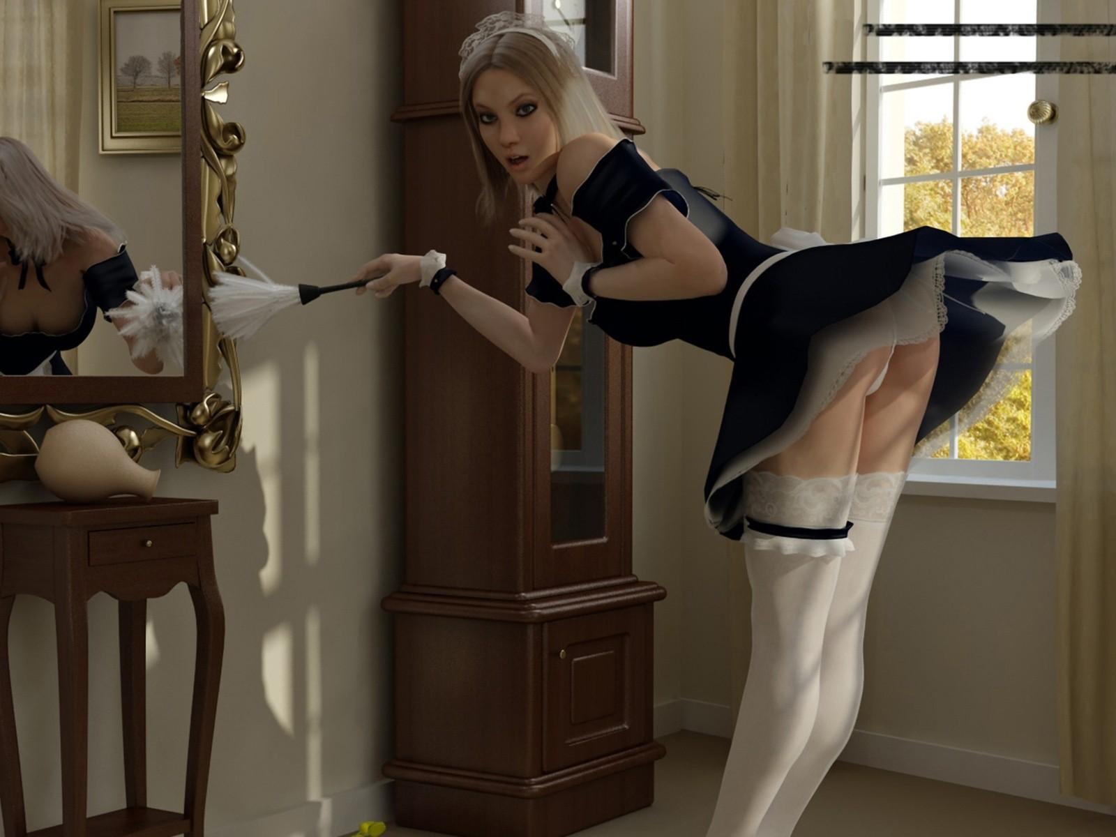 Charlotte Springer Maids Stockings Girls Legs Erotic Pics Hq