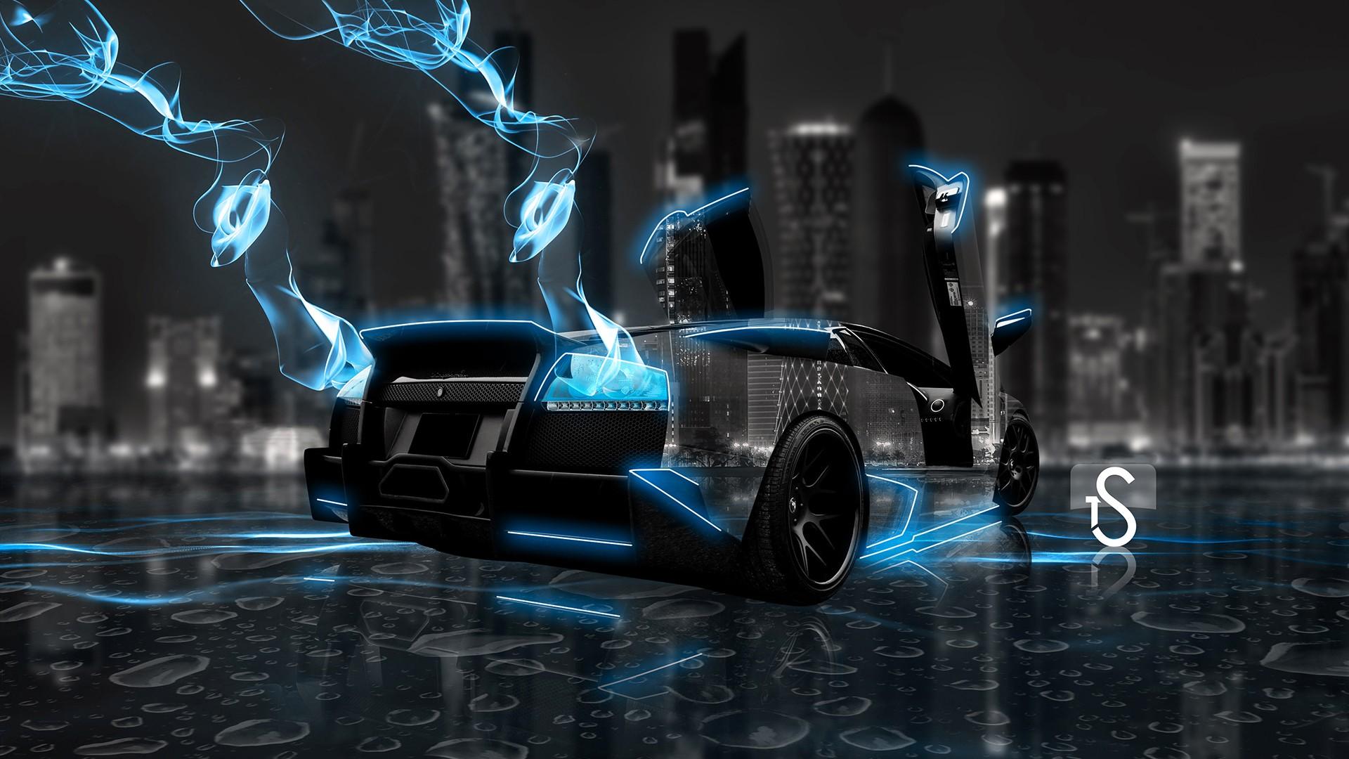 nghệ thuật số đêm xe hơi Render Xe hình dạng bóng tối Siêu xe Ảnh chụp