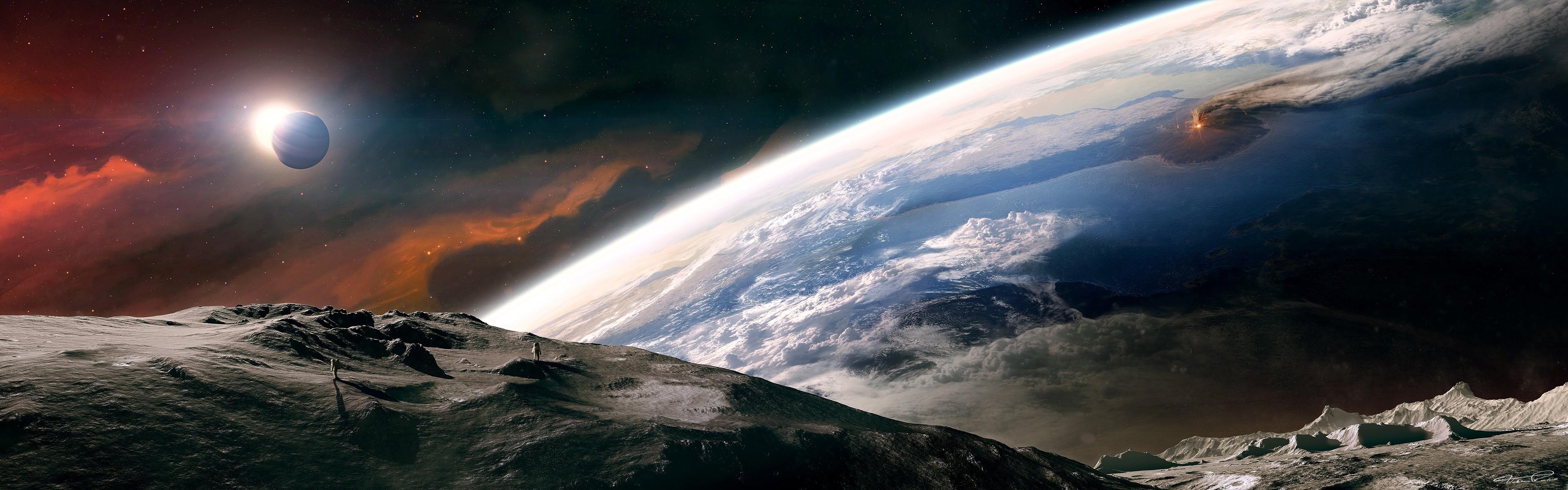 Обои астронавт, земля. Фантастика foto 19