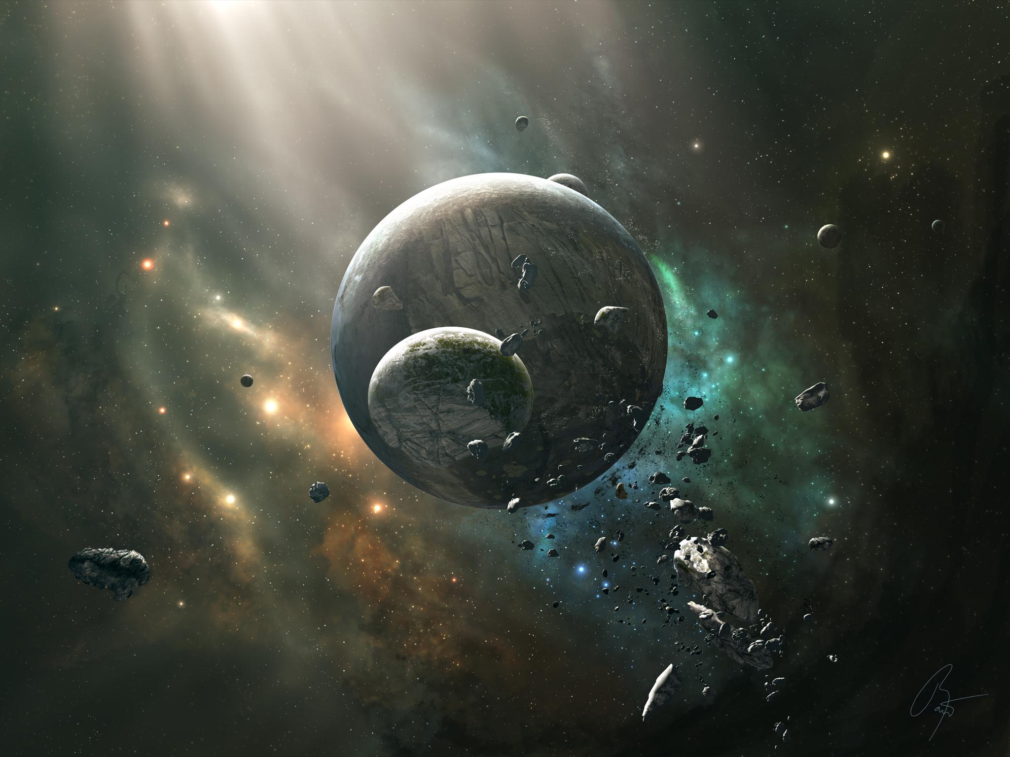 Digital Art Planet Space Artwork Nebula Atmosphere Universe JoeyJazz Astronomy Screenshot Outer Astronomical
