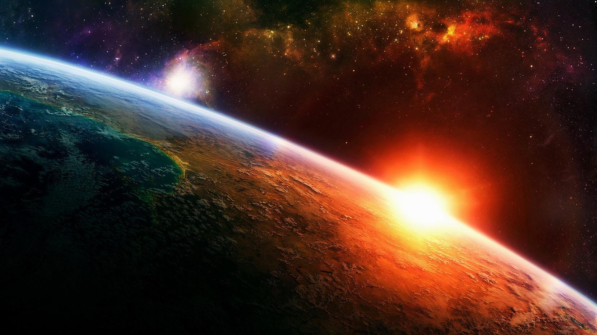 Wallpaper Digital Art Planet Sky Earth Space Art