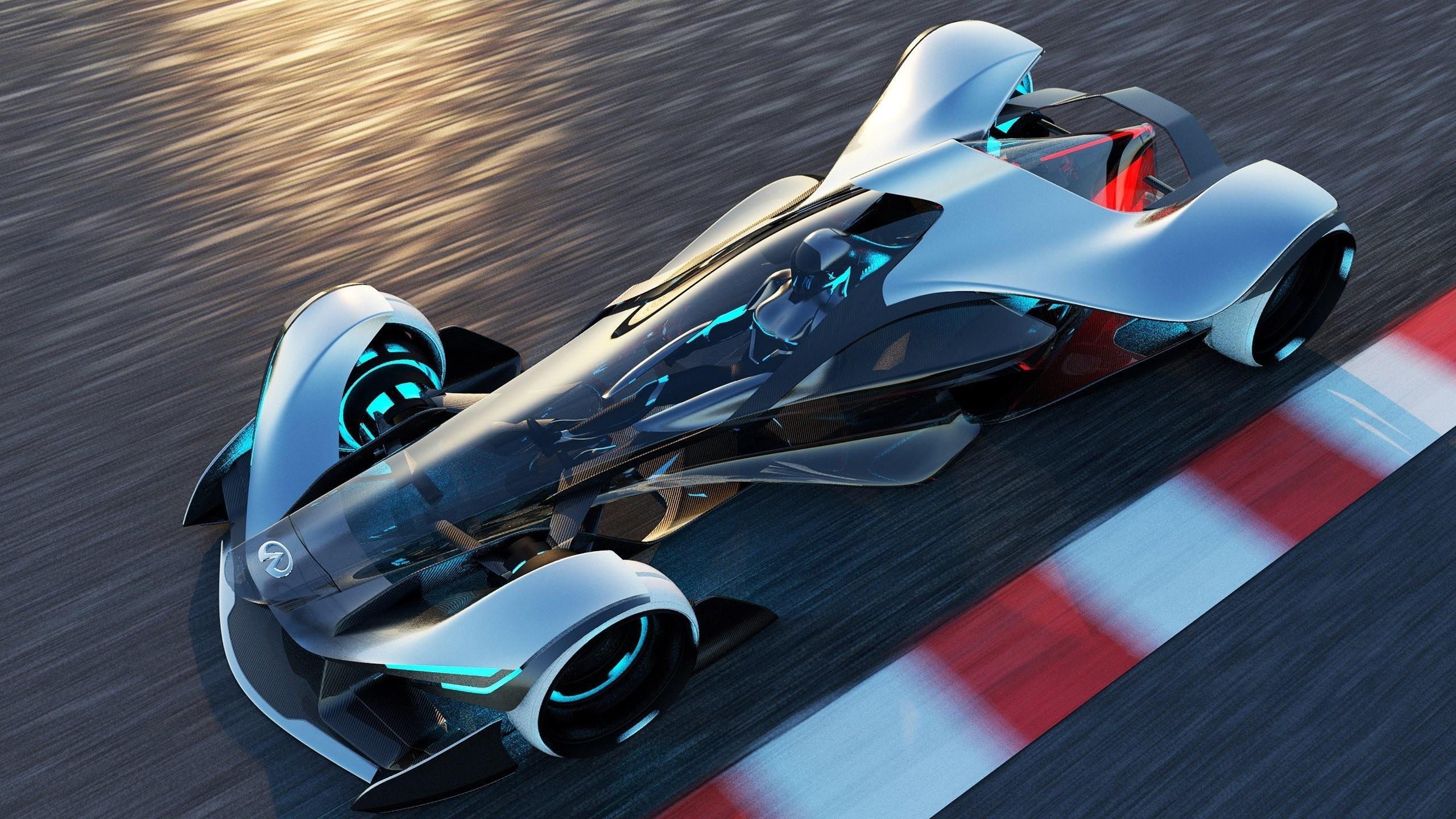 Wallpaper Digital Art Race Cars Futuristic Concept Sports Car Motion Blur Performance Infiniti Synaptiq Supercar Motorsport