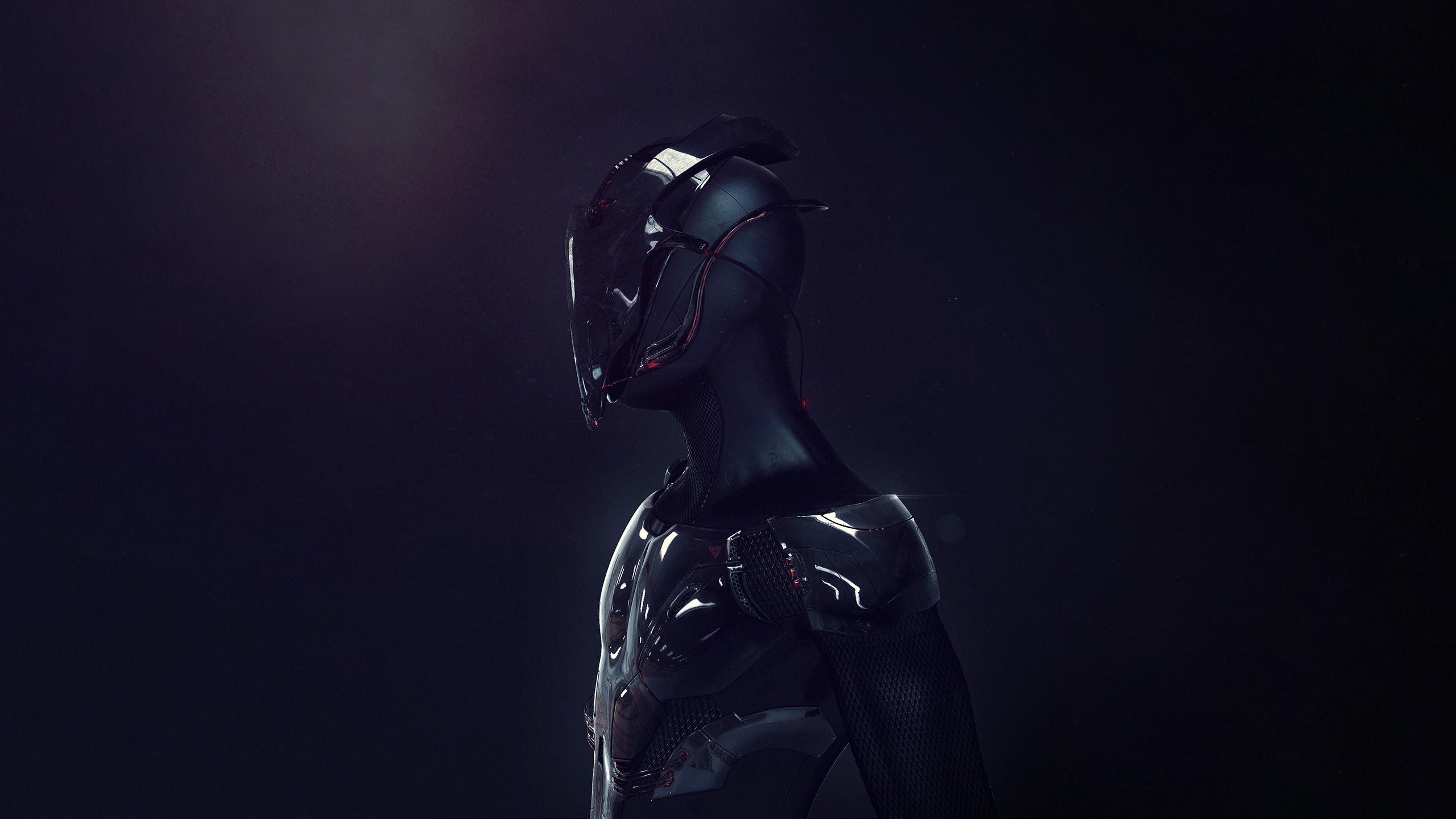 Armure Futuriste fond d'écran : art numérique, science fiction, masque, armure