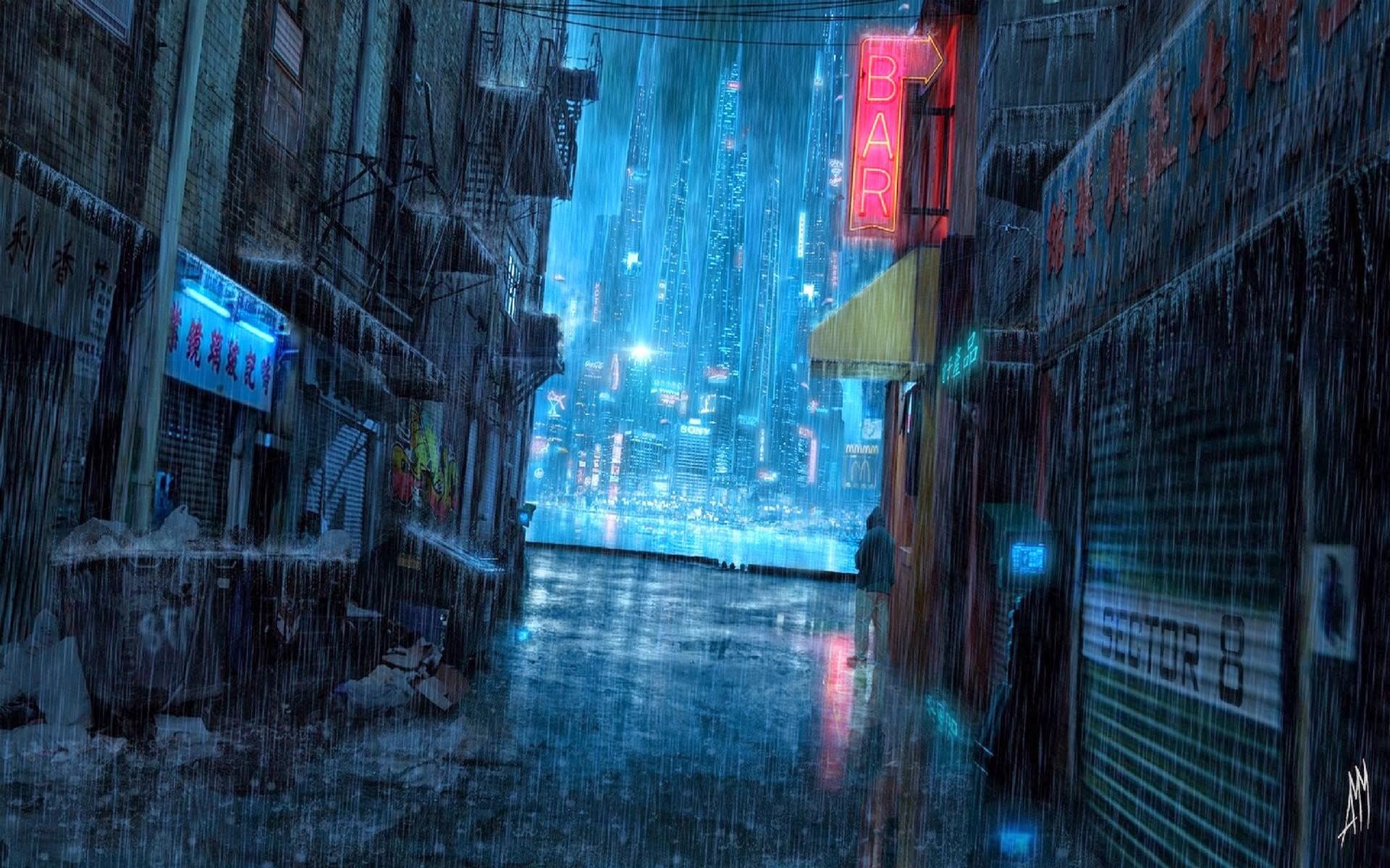 картинки на рабочий стол ночь дождь это все