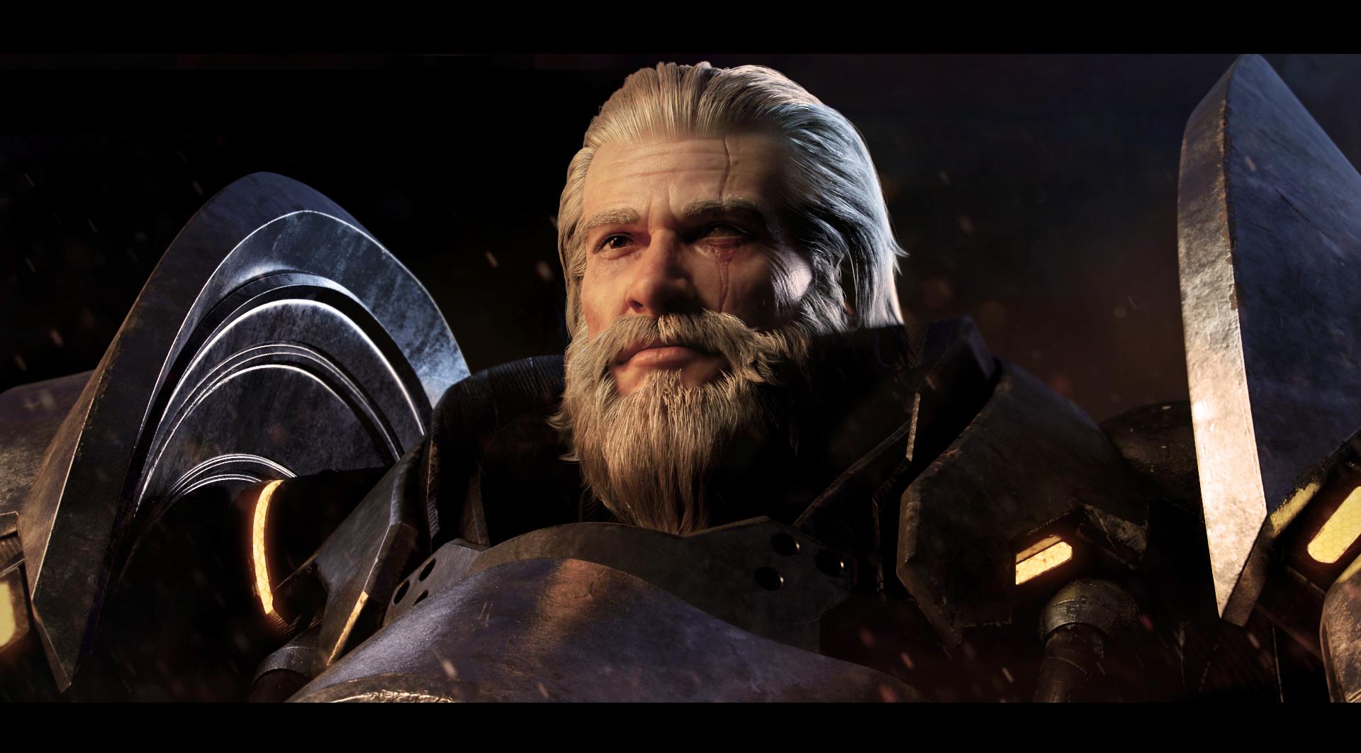 Wallpaper Digital Art Video Games Reinhardt Overwatch Men Scars White Hair Beard 1920x1062 Pere 1303257 Hd Wallpapers Wallhere