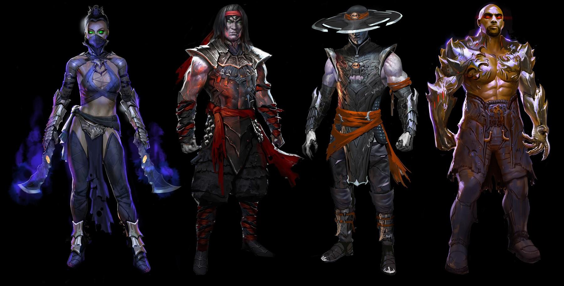 Digital Art Video Games Artwork Concept Toy Mortal Kombat X Jax Kung Lao Liu Kang