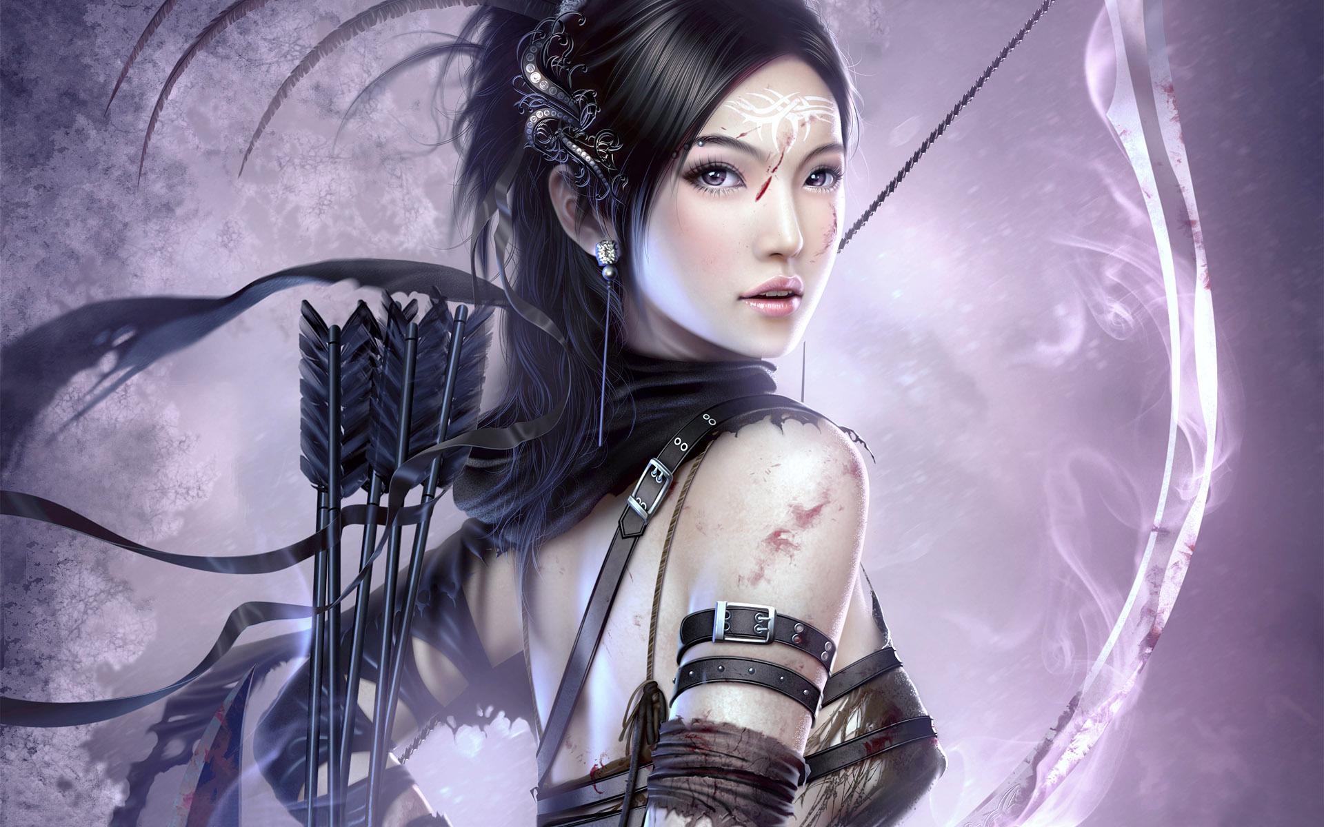 All Asian fantasy art women warriors can