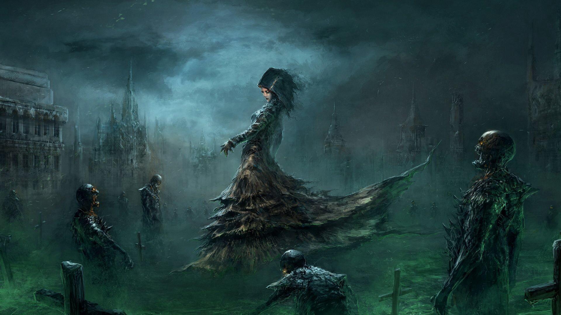 Fantasy Art Necromancers Wallpapers Hd Desktop And: Fondos De Pantalla : Arte Digital, Mujer, Arte Fantasía