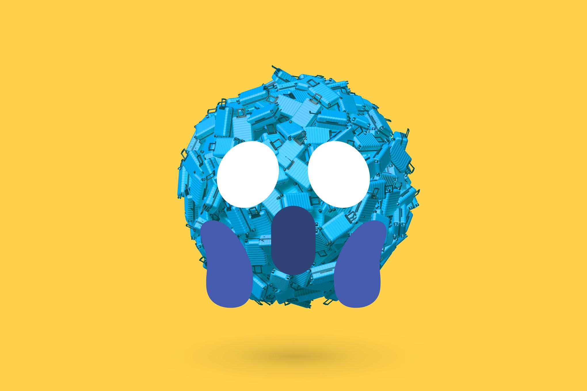 digital digital art Emoji 3D luggage the verge 1743621