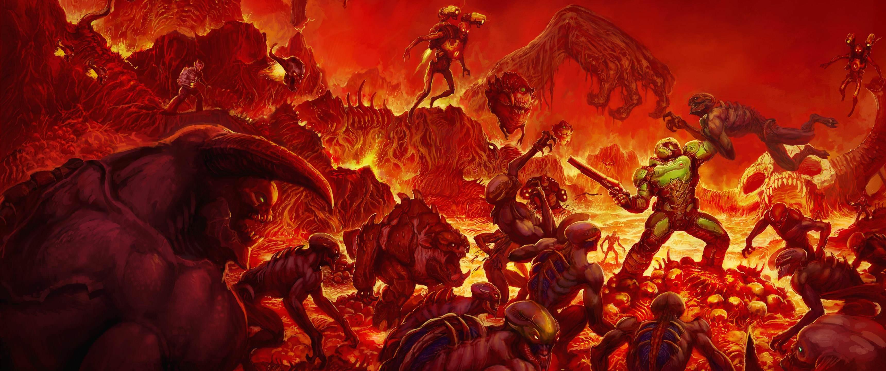 Wallpaper : doom 2016, ultrawide, video games 3440x1440 ...