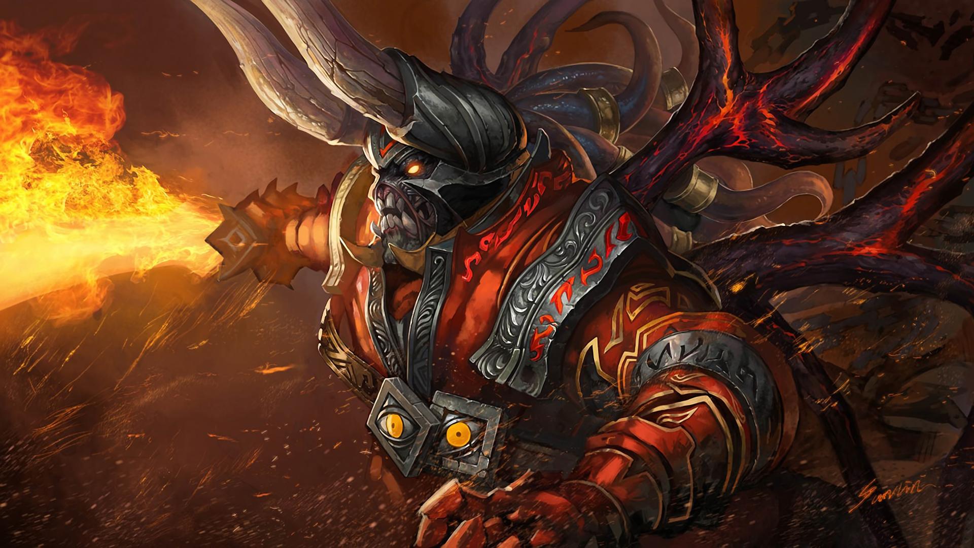 デスクトップ壁紙 ドラゴン Dota 古代人の防衛 漫画 神話
