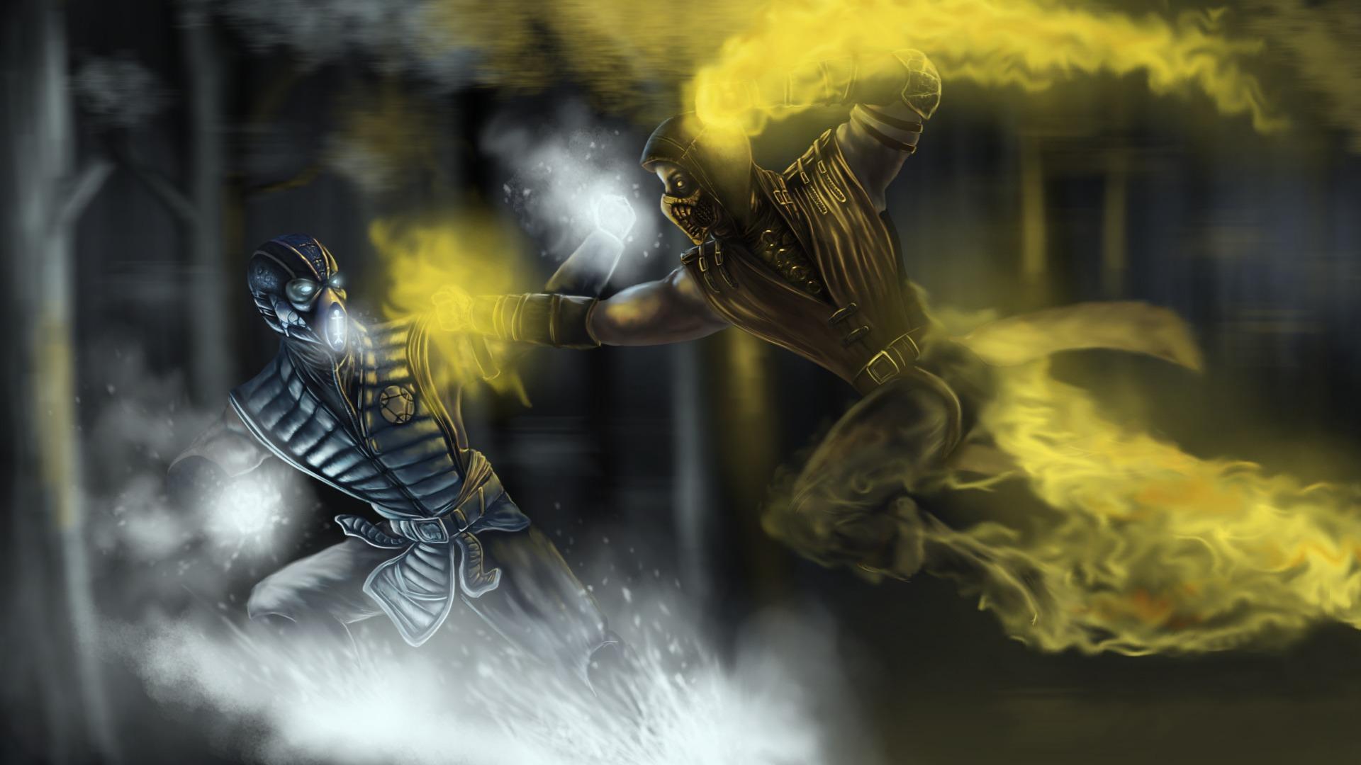 Wallpaper Dragon Sub Zero Mortal Kombat X Mythology Scorpion