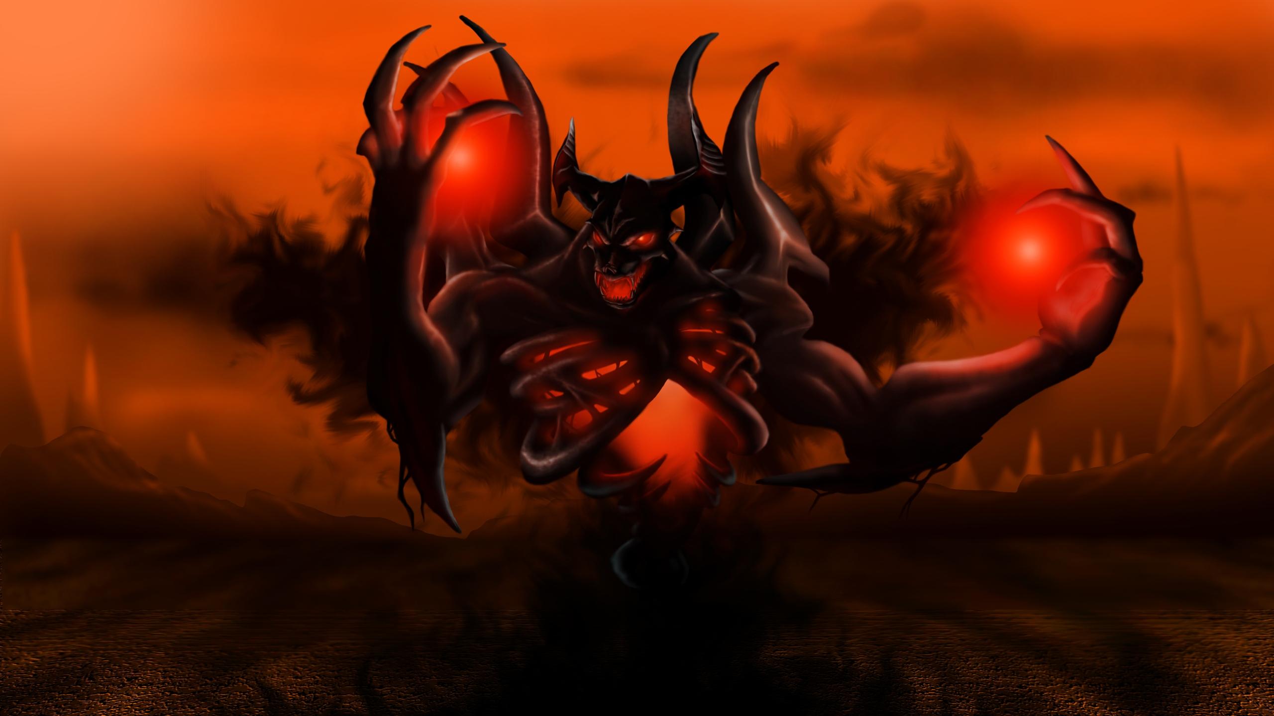 Dragon Demon Dota 2 Nevermore Shadow Fiend Darkness Screenshot Computer Wallpaper Fictional Character