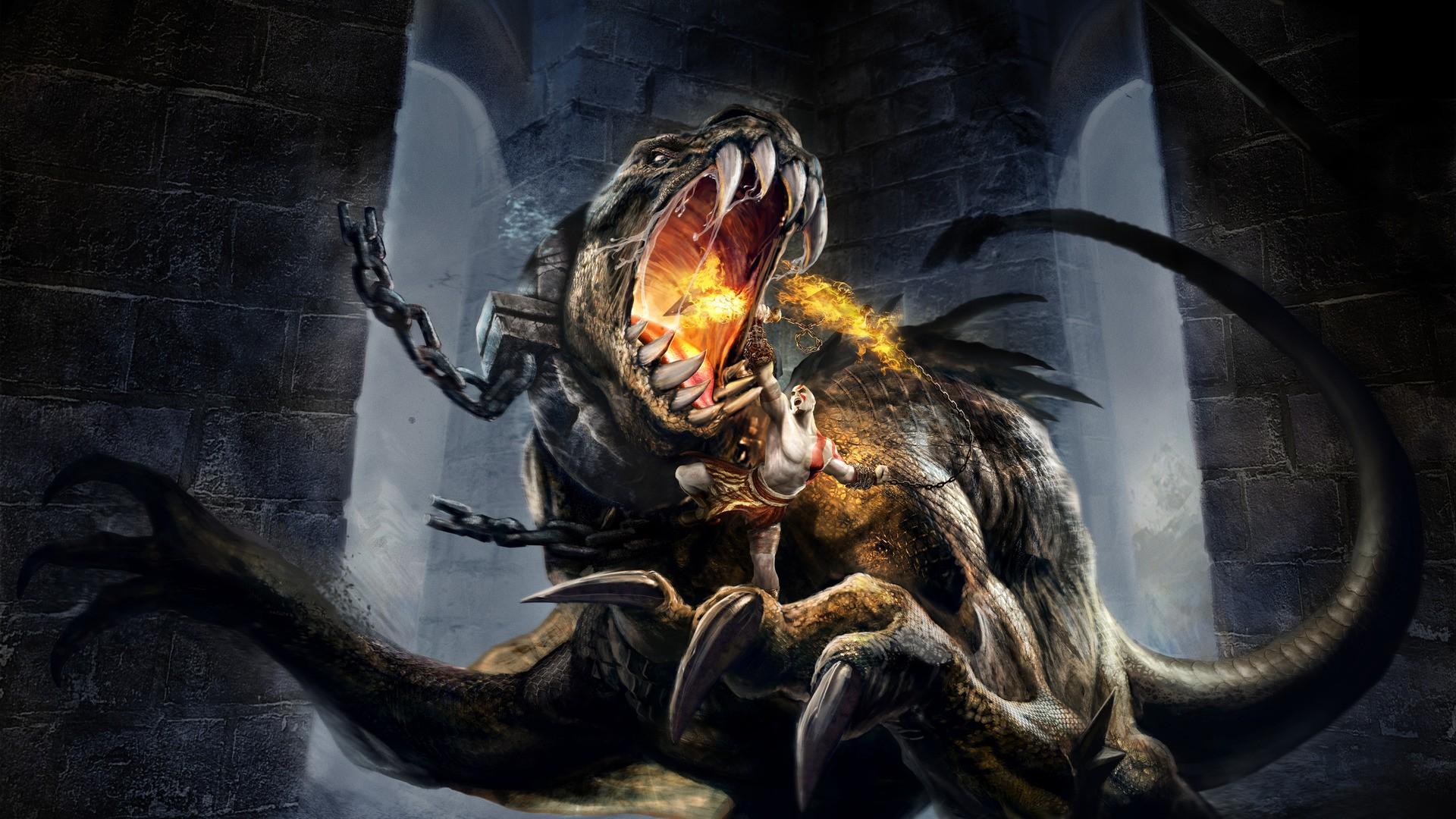 Wallpaper Dragon Demon Mythology God Of War Kratos