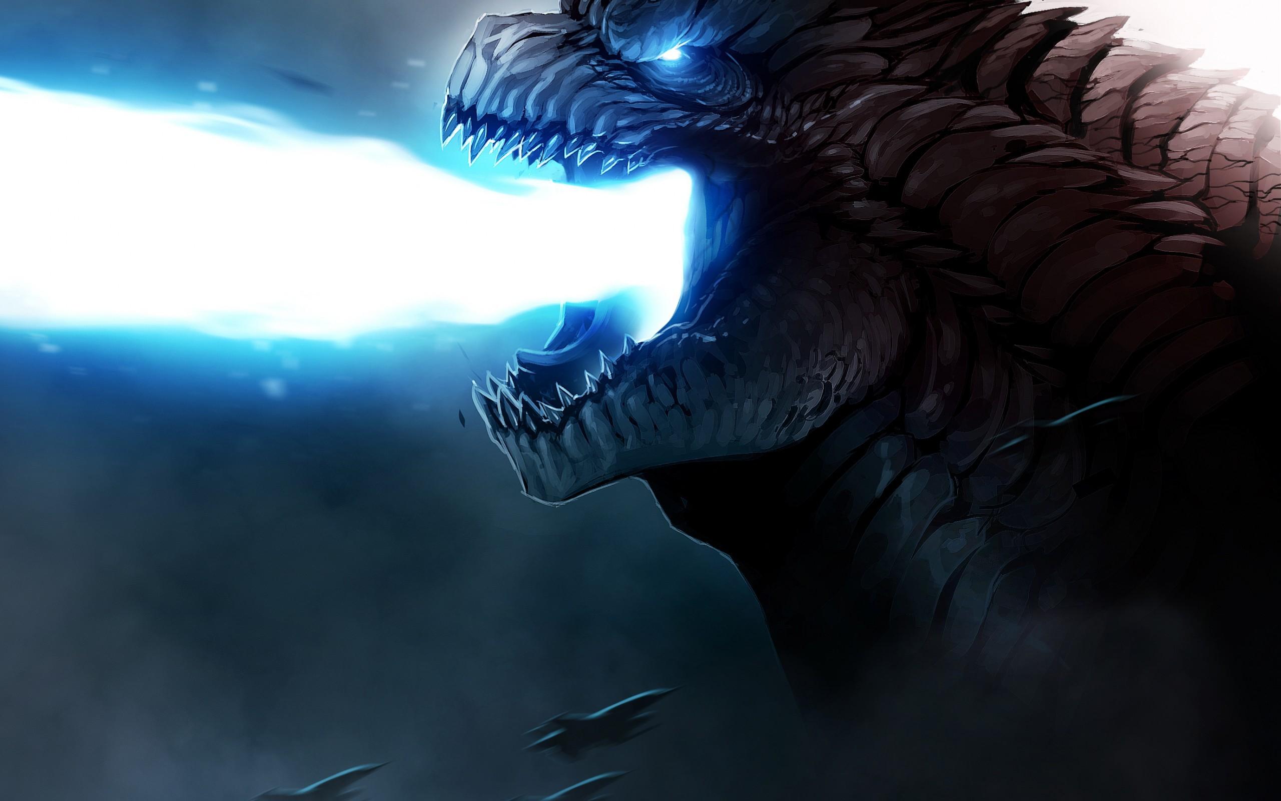 wallpaper : dragon, kaiju, godzilla, darkness, wing, screenshot