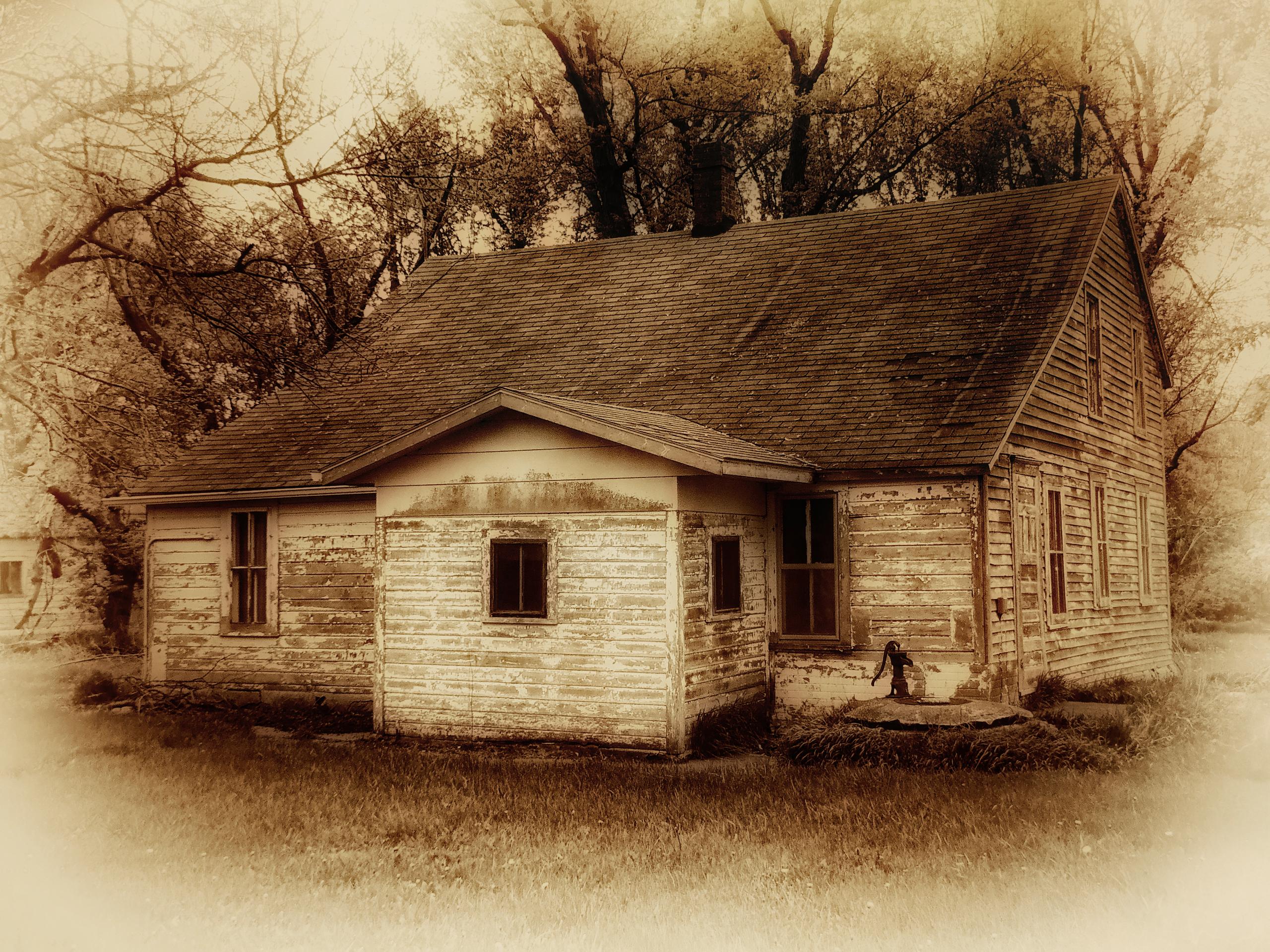 Drawing Abandoned Wood House Sepia Farm Texture USA Barn Hut Cottage Minnesota Rural Shack Country Blinkagain