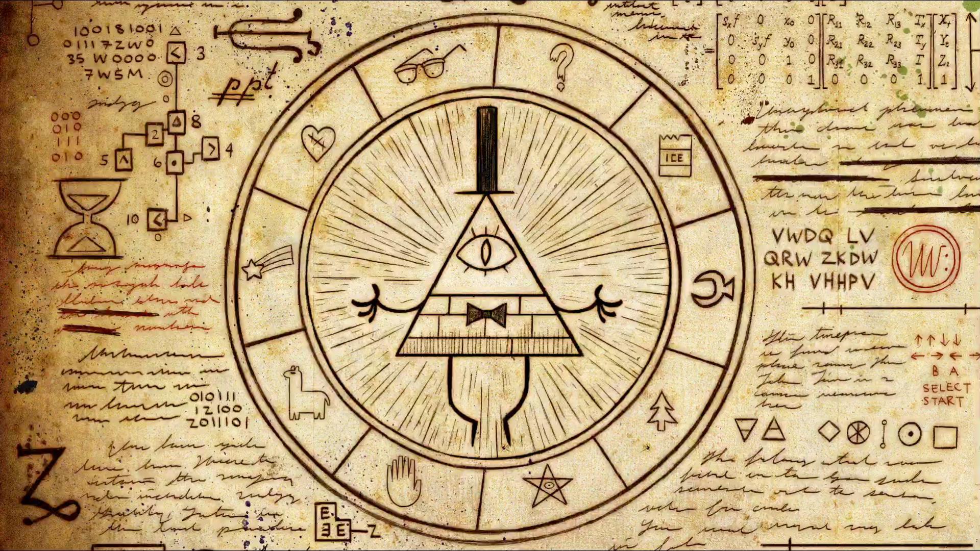 Wallpaper Drawing Artwork Illuminati Symbols Pentagram