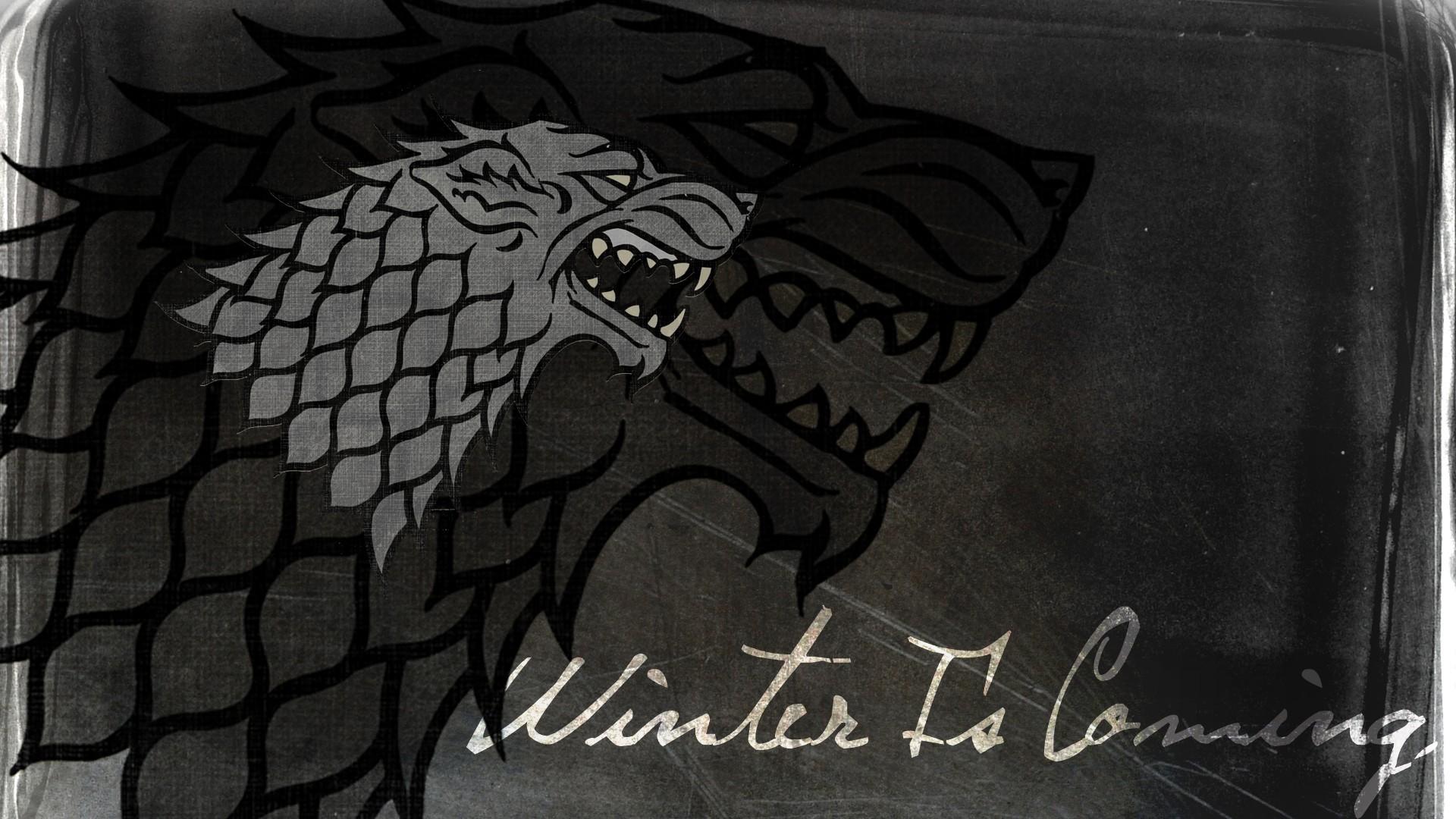 Wallpaper Drawing Black Game Of Thrones House Stark Winter