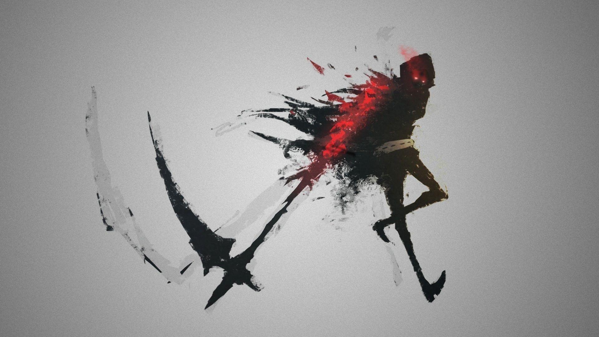 Drawing black illustration fantasy art simple background dark red artwork concept art blood grim reaper art