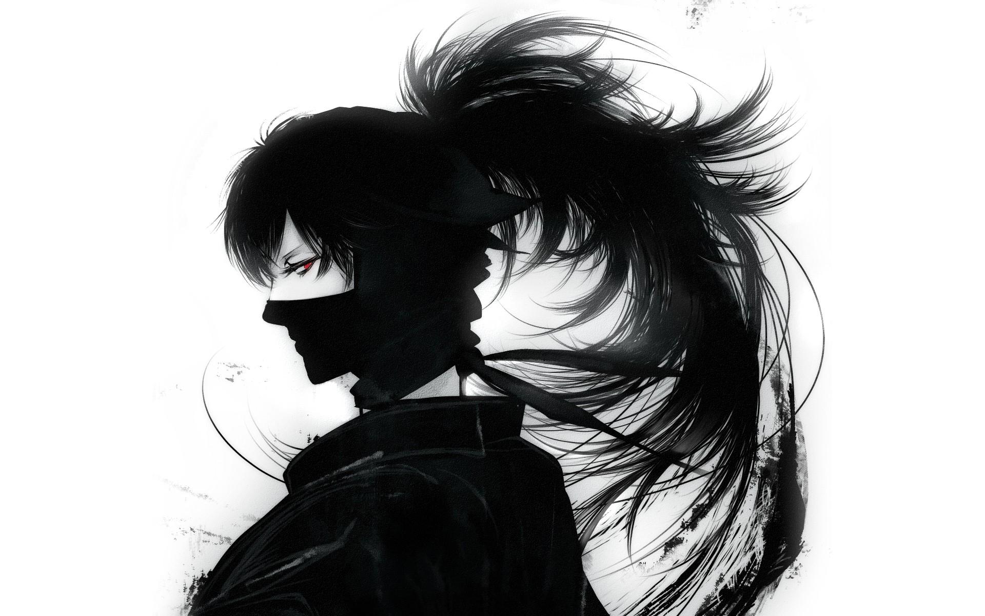 Fond Décran Dessin Illustration Monochrome Silhouette