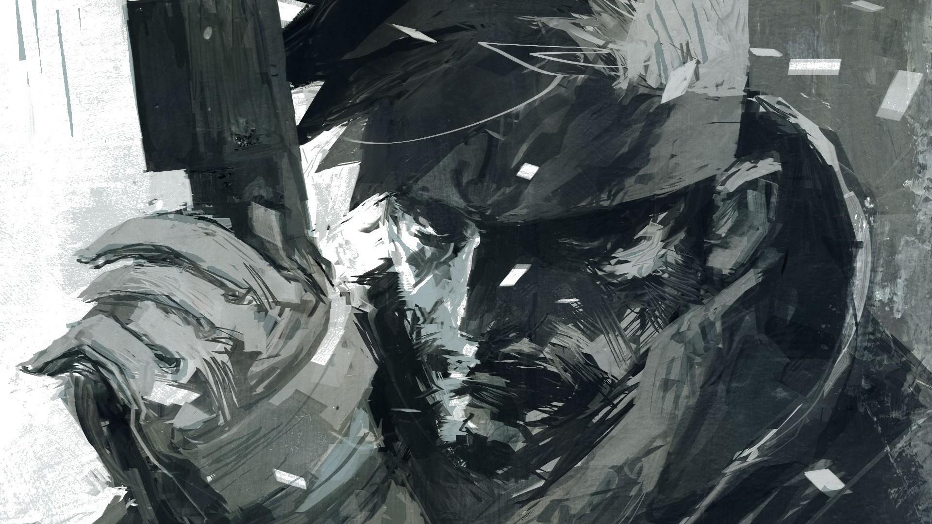 Wallpaper Drawing Black Video Games Monochrome Artwork