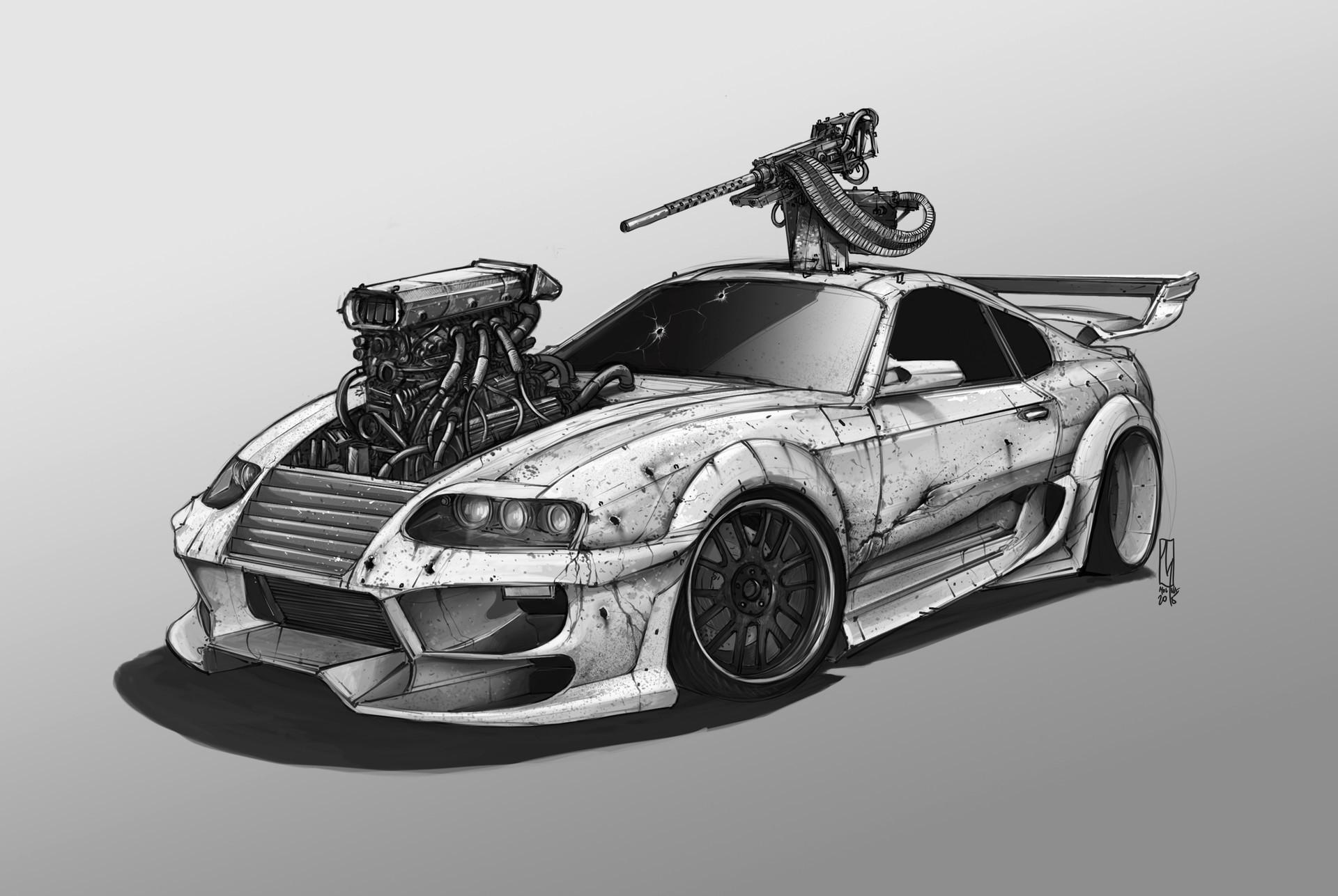 Fond d 39 cran dessin bmw v hicule ouvrages d 39 art - Dessin de voiture de luxe ...