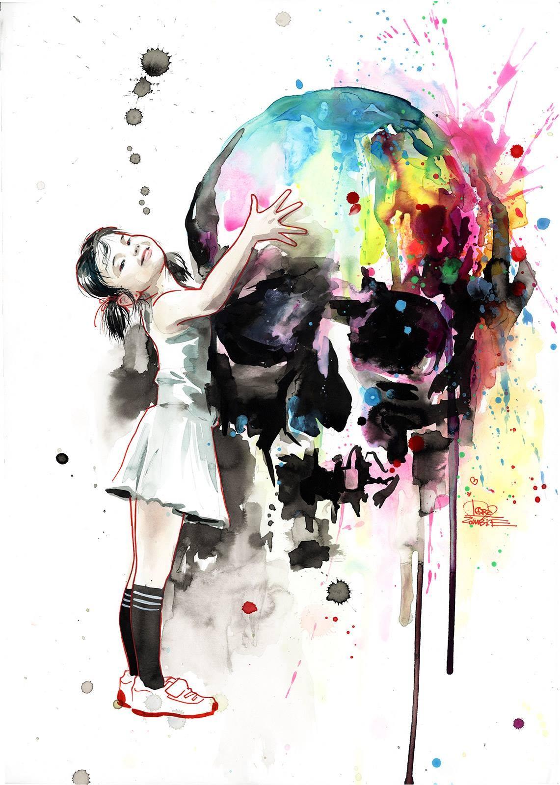 Fond d 39 cran color la peinture illustration anime - Dessin colore ...