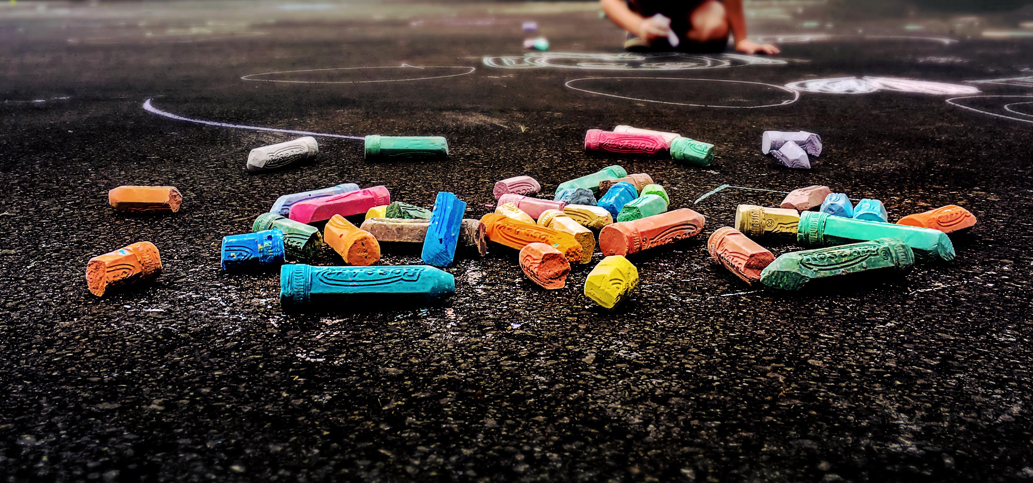 Sfondi Disegno Colorato Strada Bambini Gesso Estate I Phone