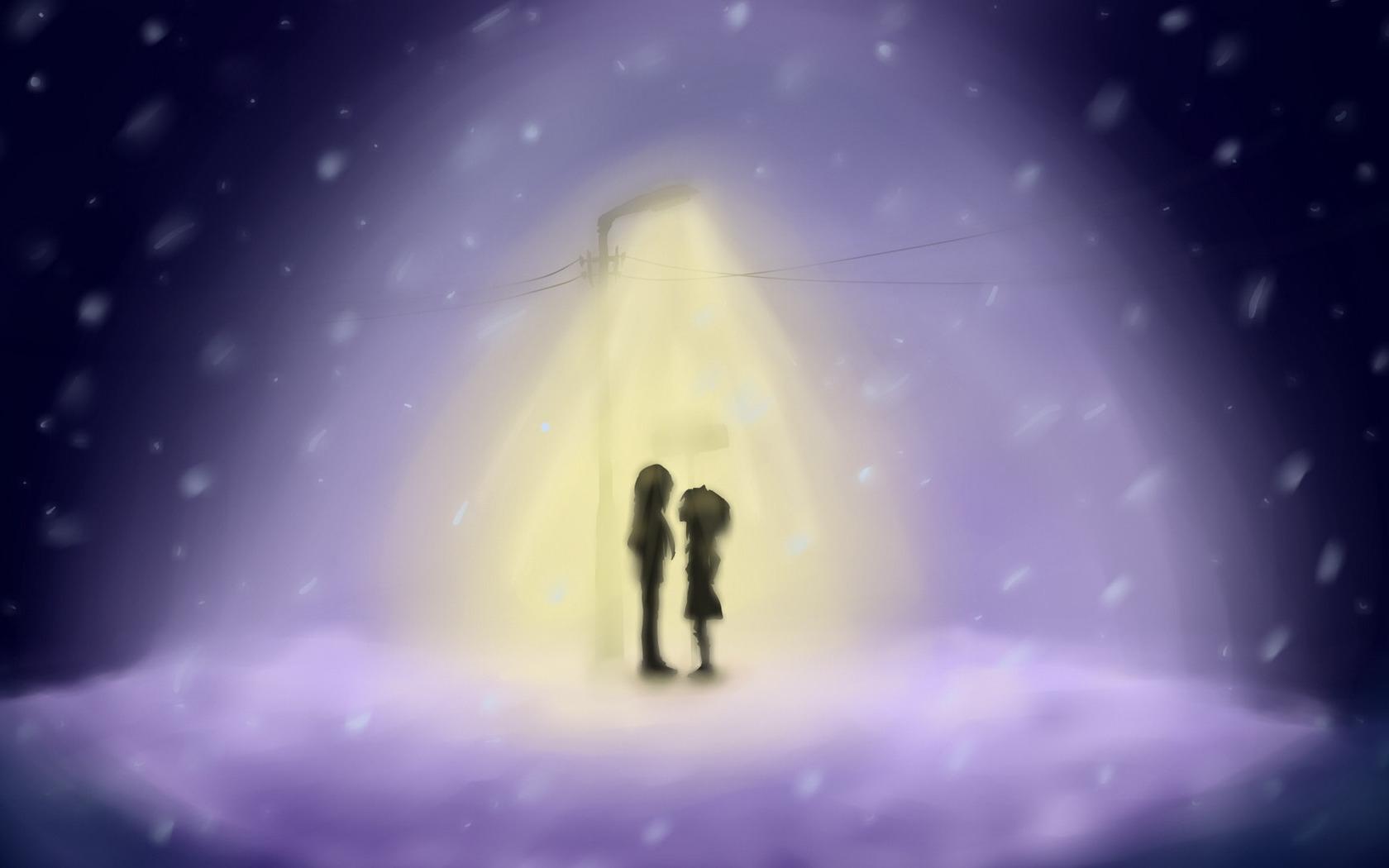 Fond D écran Dessin Fille Garçon Lanterne Lumière