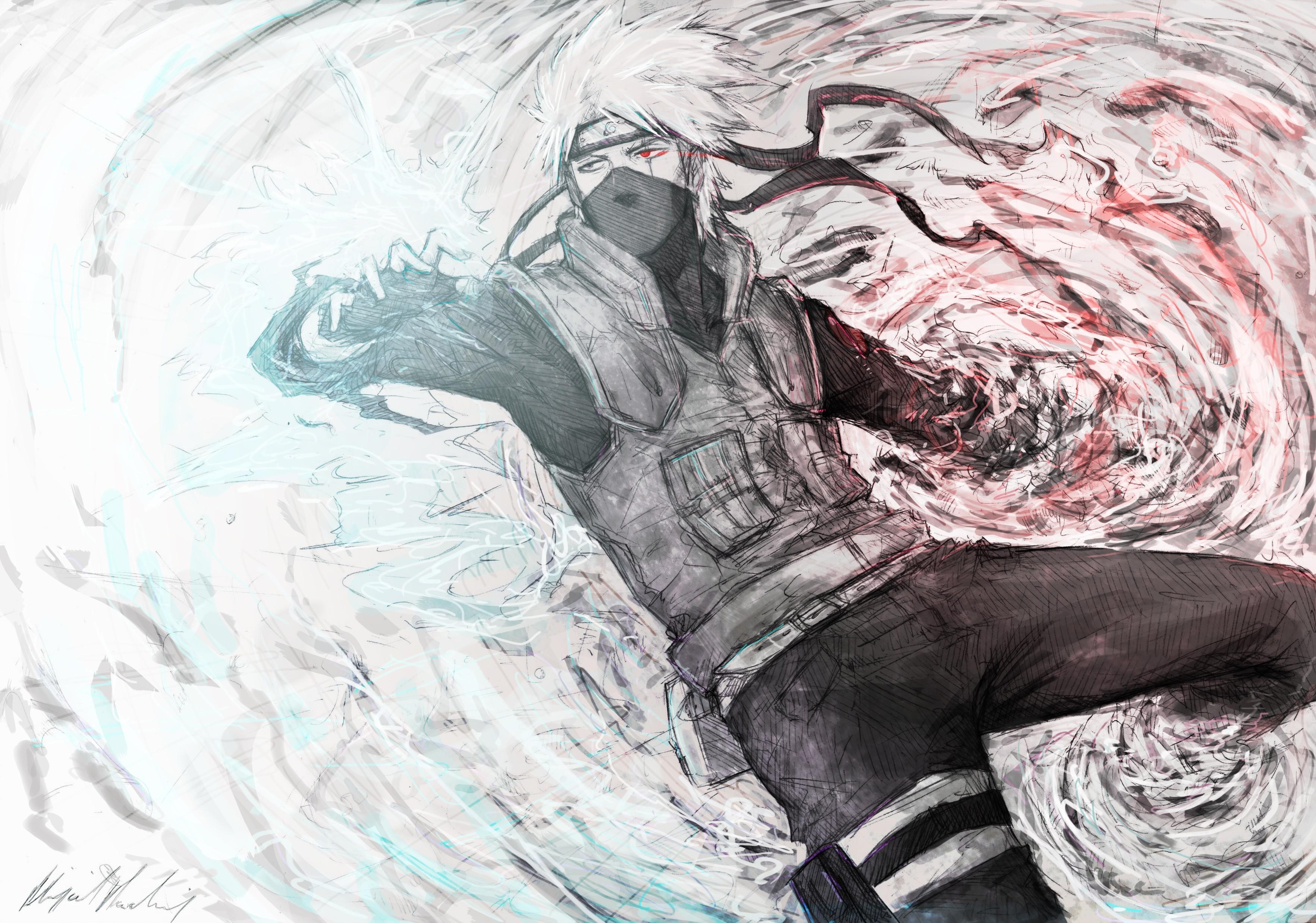Bản vẽ hình minh họa Hatake Kakashi Naruto Shippuuden R1 Phác hoạ cơ thể con người