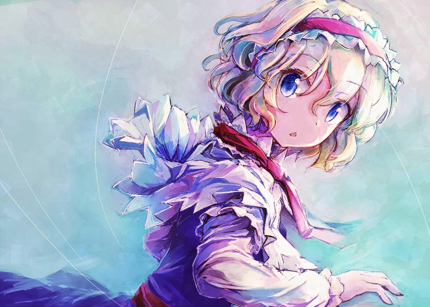 デスクトップ壁紙 お絵かき 図 アニメの女の子 東方 アリス