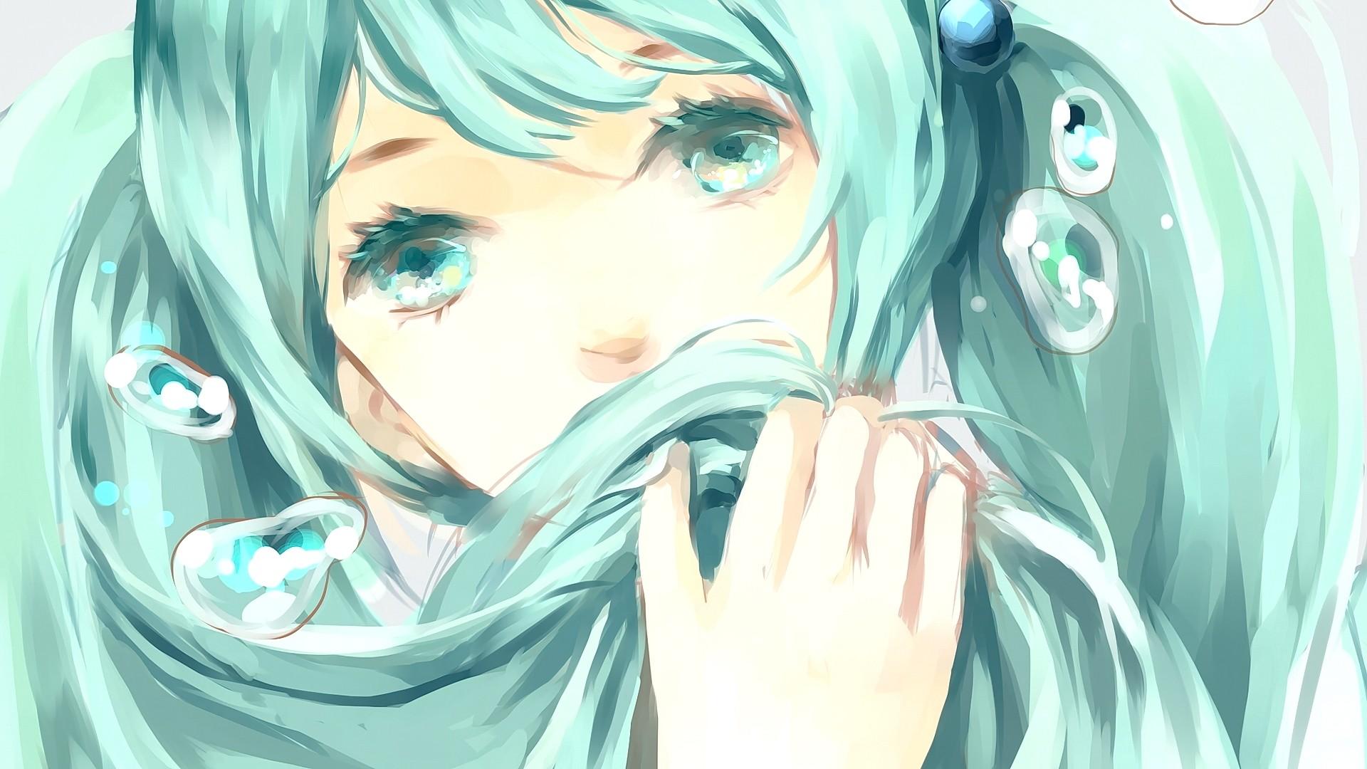 Аниме девушки с голубыми глазами картинки