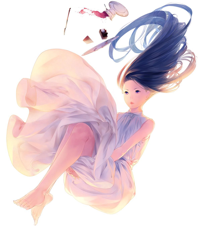 Wallpaper Ilustrasi Gadis Anime Gambar Kartun Kue