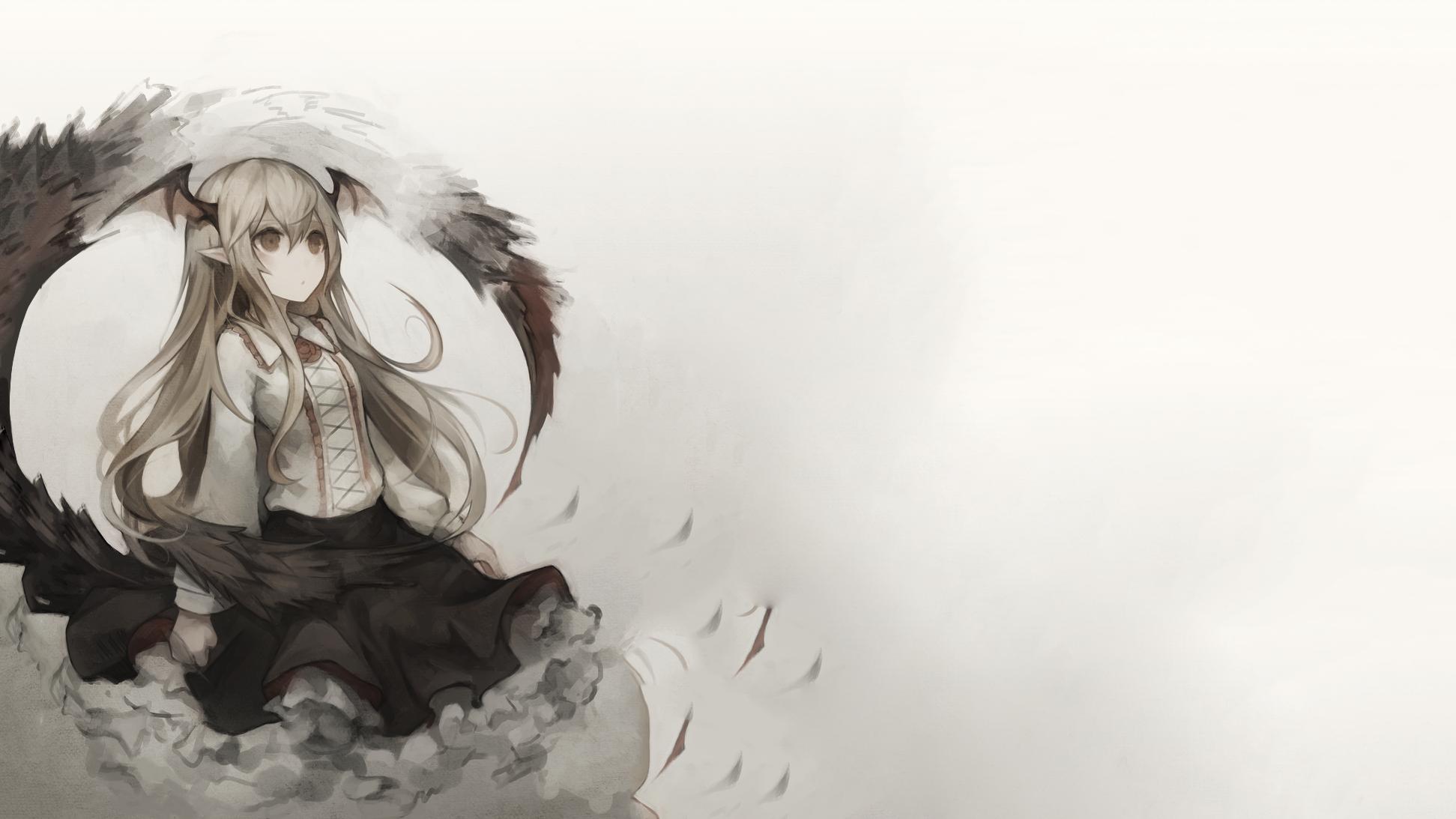 Gambar ilustrasi anime gadis anime solo sketsa