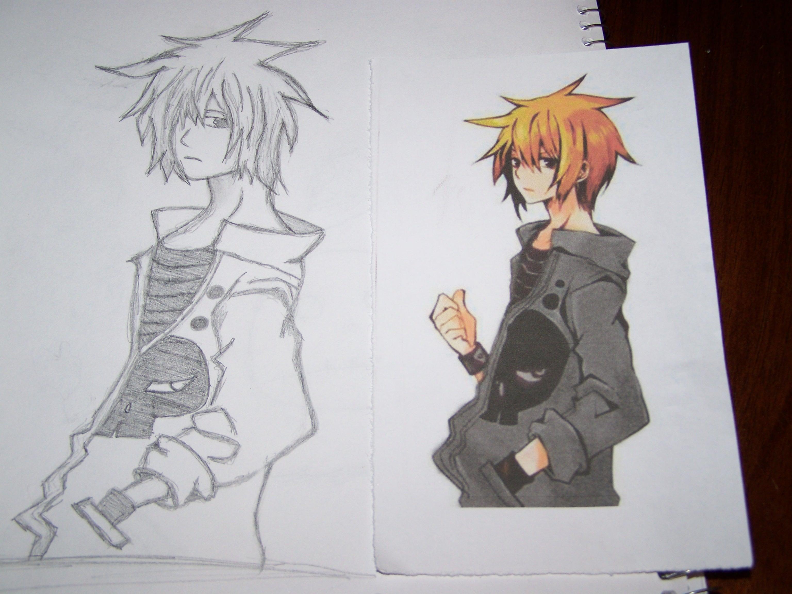 Wallpaper Drawing Illustration Anime Artwork Dude Boy